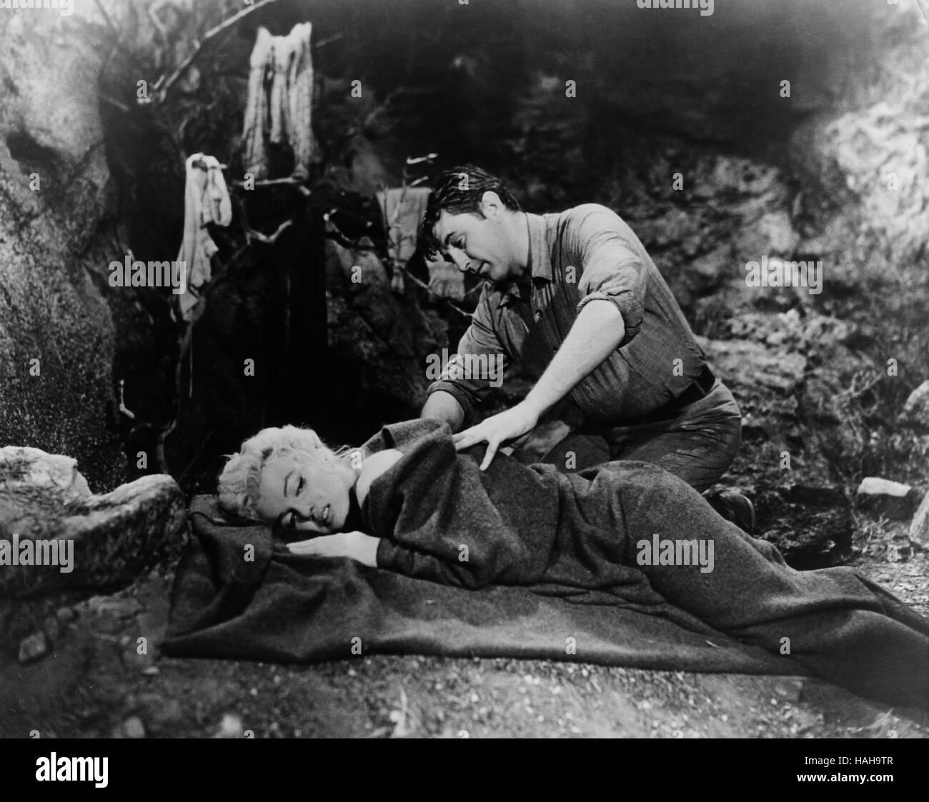 River of No Return  Year : 1954 USA Director : Otto Preminger Robert Mitchum, Marilyn Monroe - Stock Image
