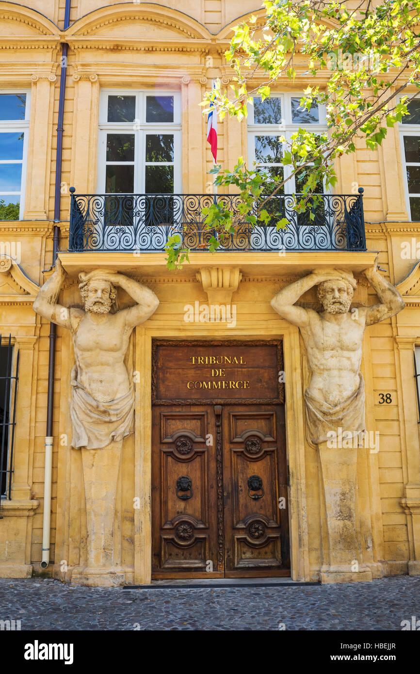 Tribunal de Commerce in Aix-en-Provence, France - Stock Image
