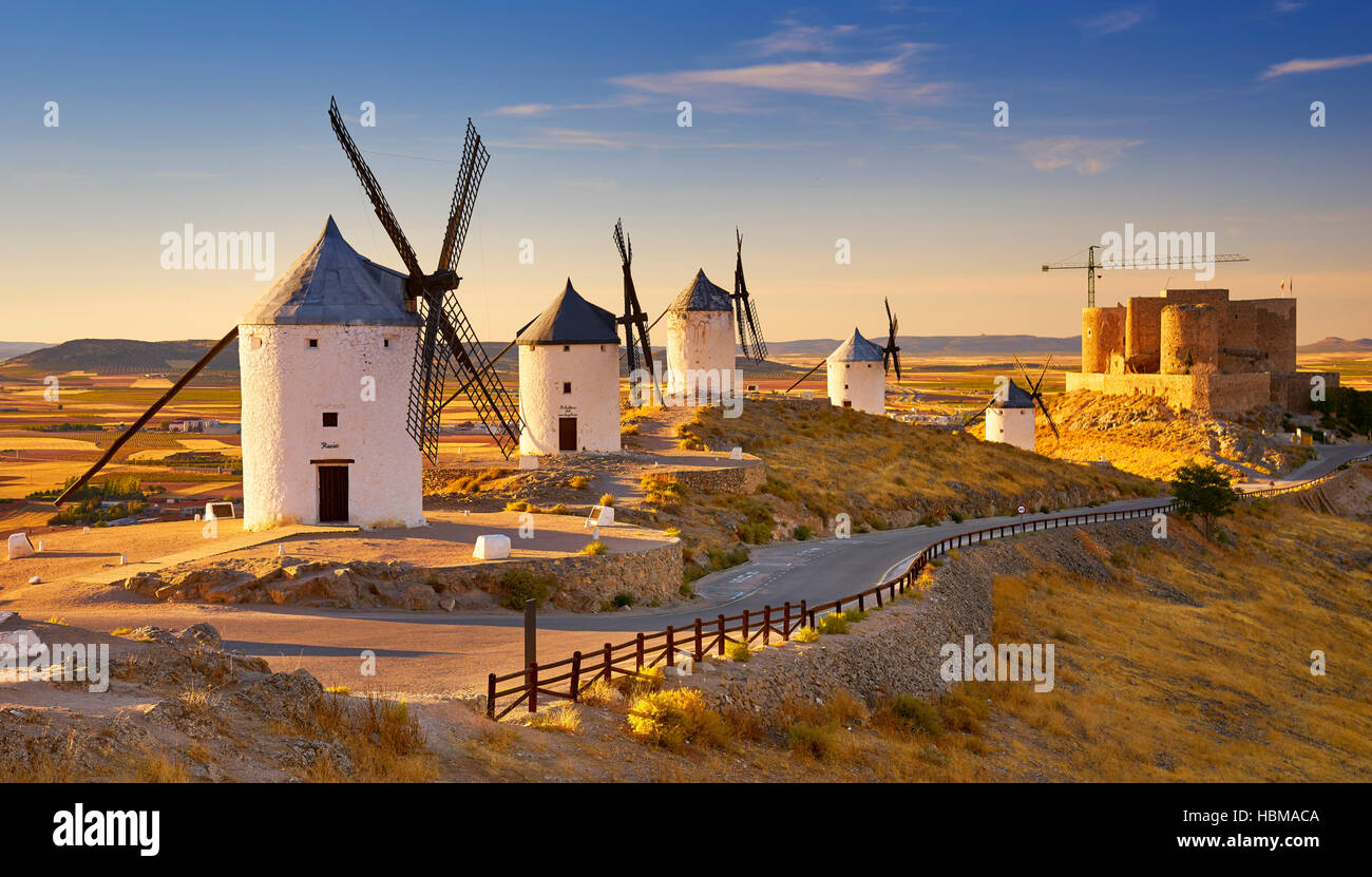 Windmills in Consuegra, Spain - Stock Image