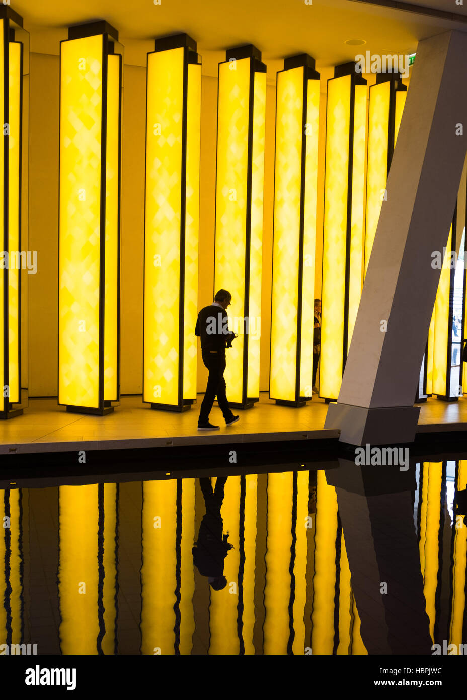 Olafur Eliasson, artwork 'Inside the Horizon' at Louis Vuitton Foundation, Louis Vuitton Fondation,Paris,France. - Stock Image