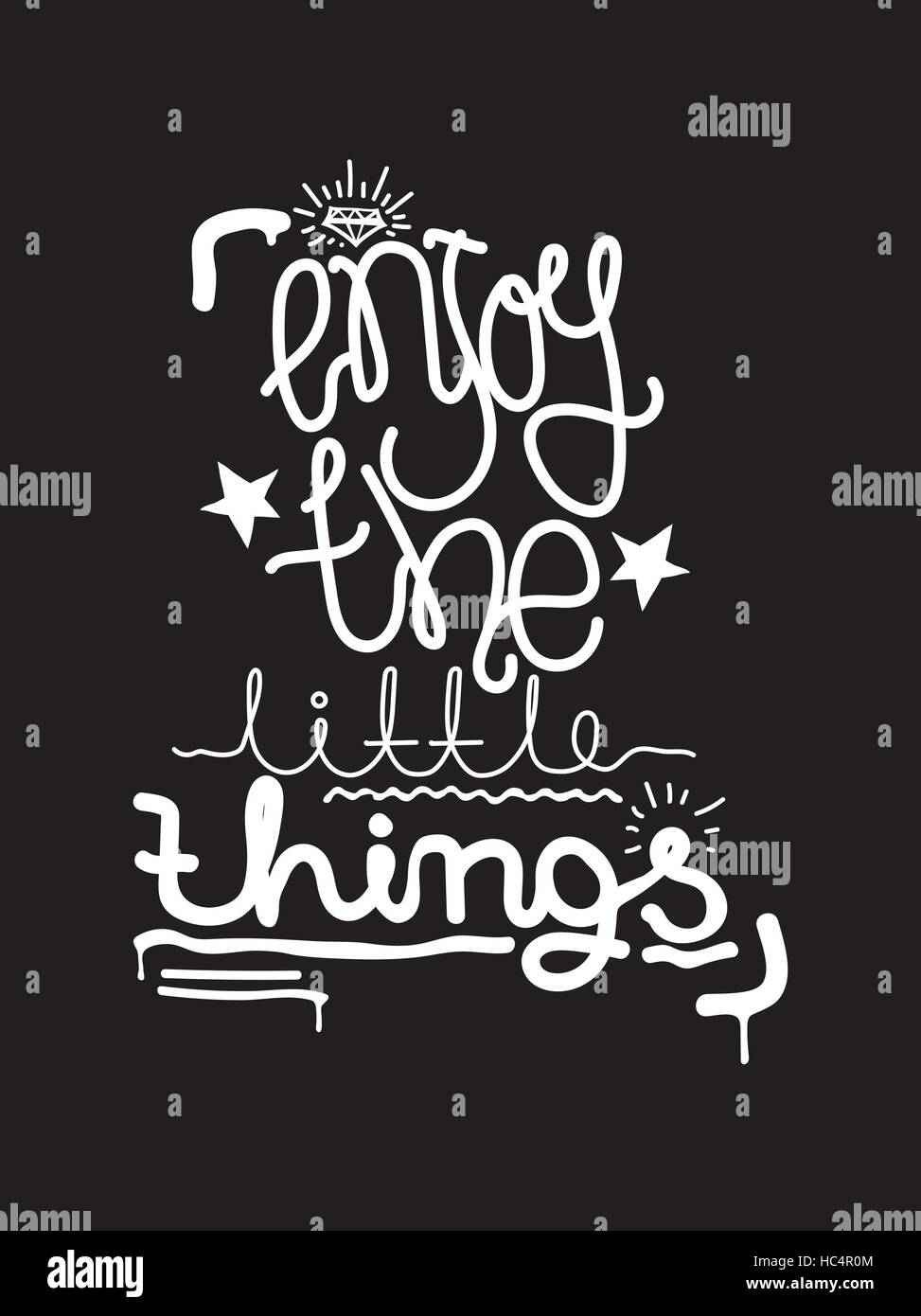 enjoy the little things simple lettering quote universal youth