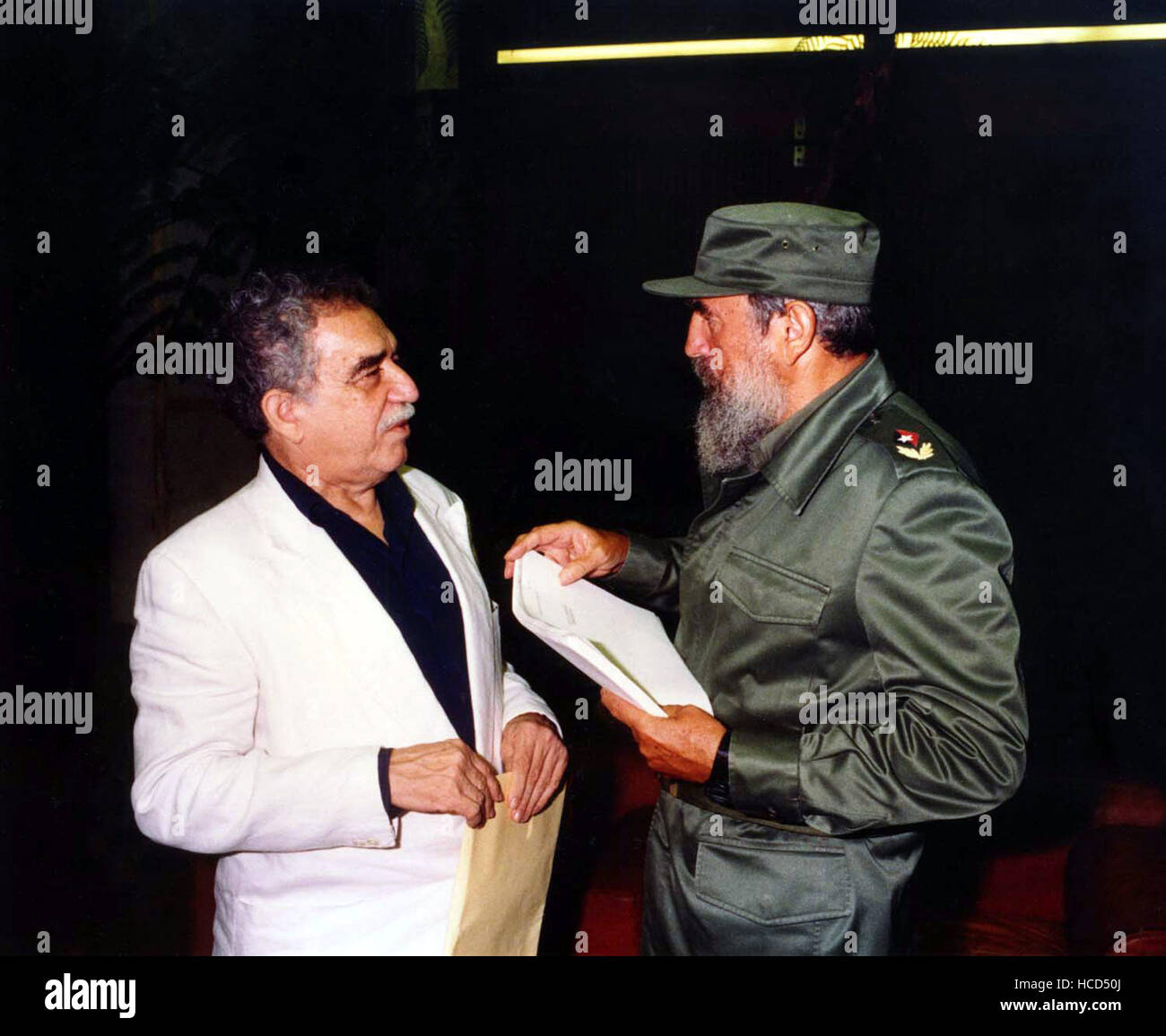 FIDEL, Gabriel Garcia Marquez, Fidel Castro, 2001, (c) First Run Features/courtesy Everett Collection Stock Photo