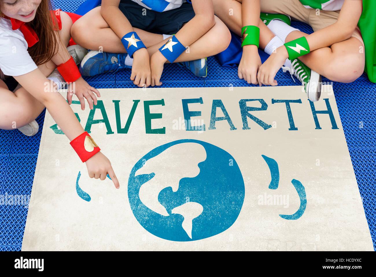 Earth Day Globe Icon Concept - Stock Image