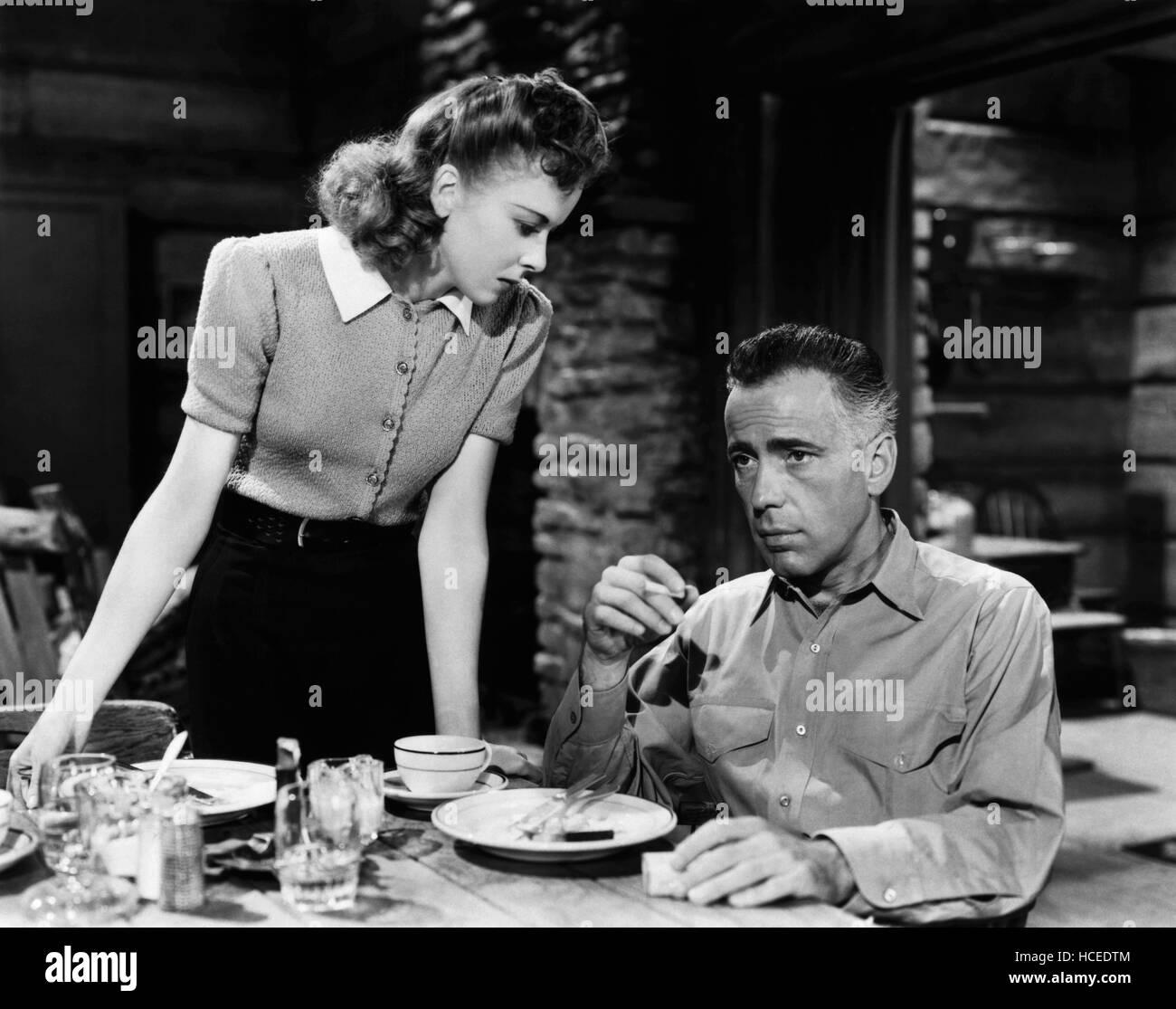 HIGH SIERRA, Ida Lupino, Humphrey Bogart, 1941 Stock Photo