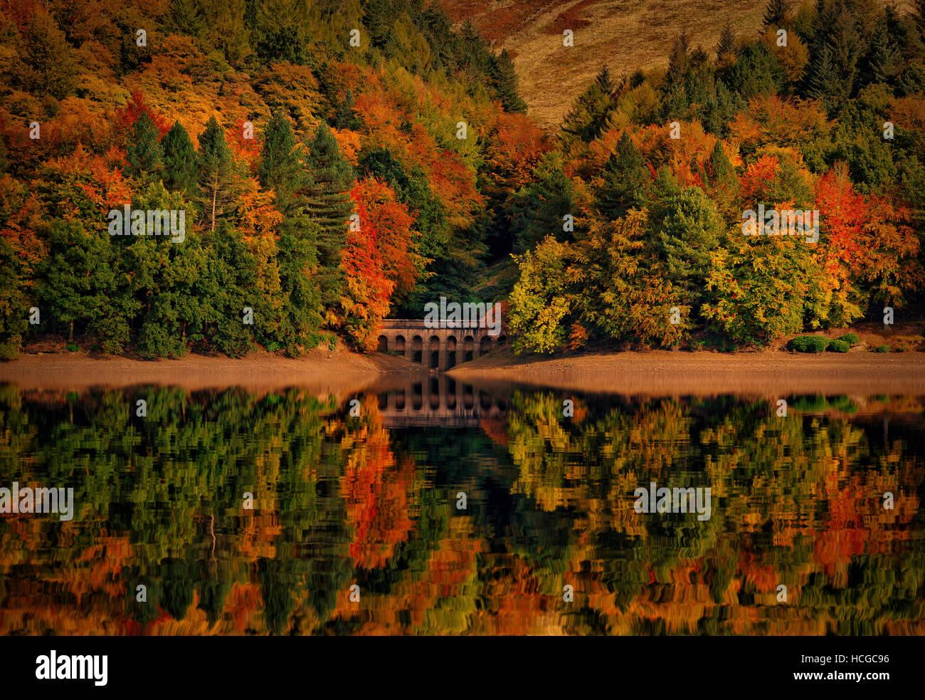 Derwent Reservoir, Upper Derwent Valley, Derbyshire Peak District Stock Photo