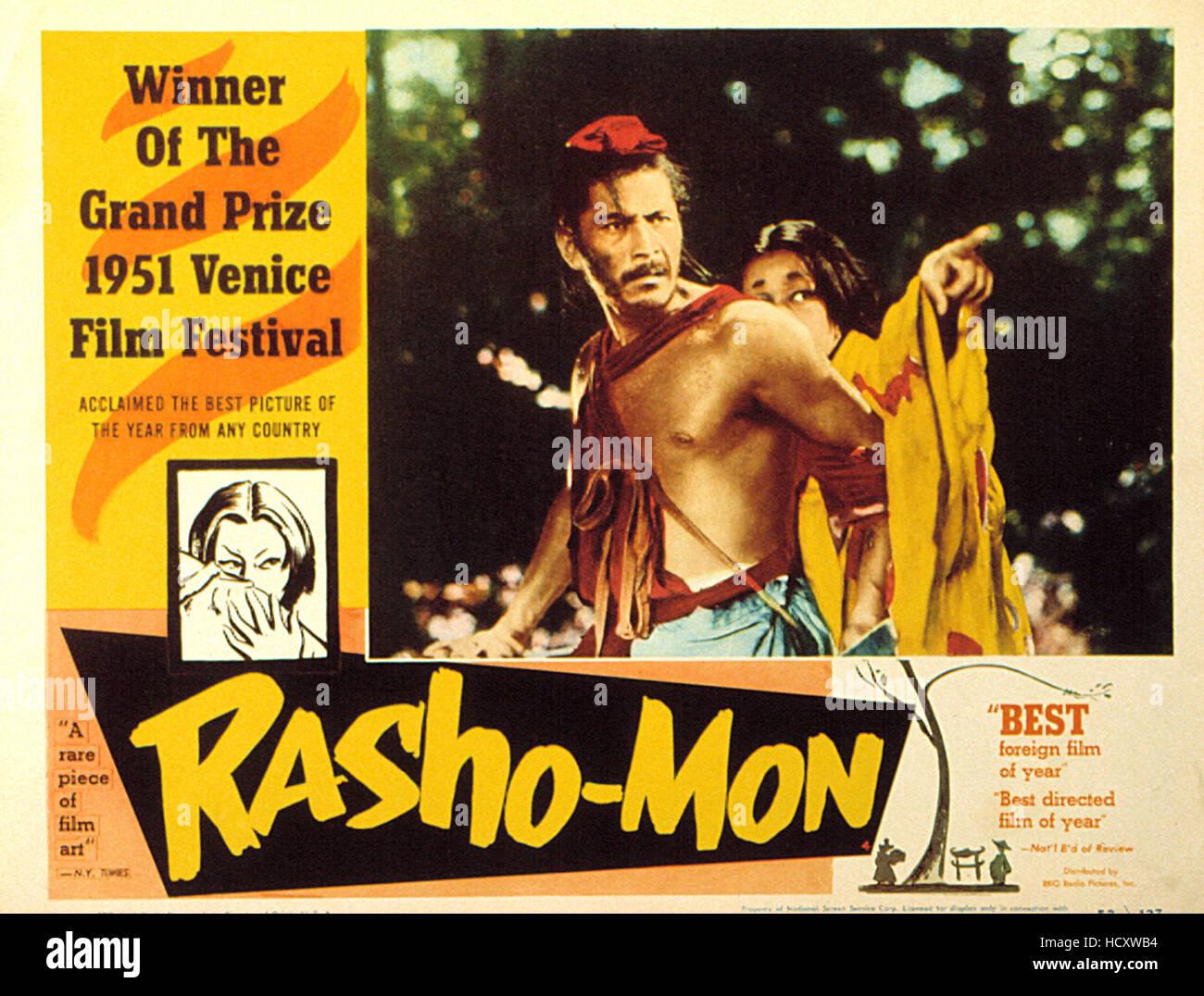 RASHOMON, Toshiro Mifune, Machiko Kyo, 1950 Stock Photo