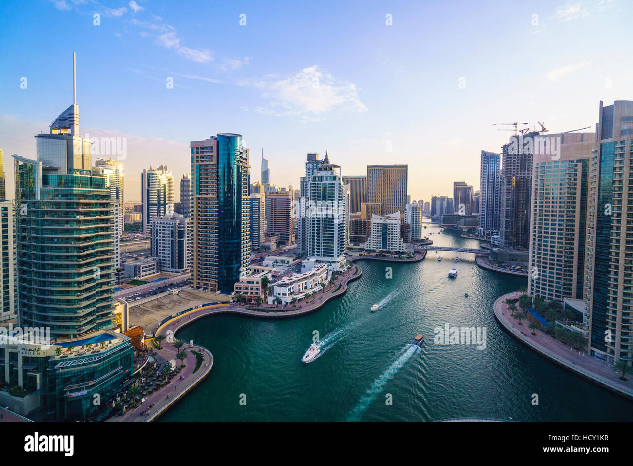 Dubai Marina, Dubai, United Arab Emirates, Middle East - Stock Image