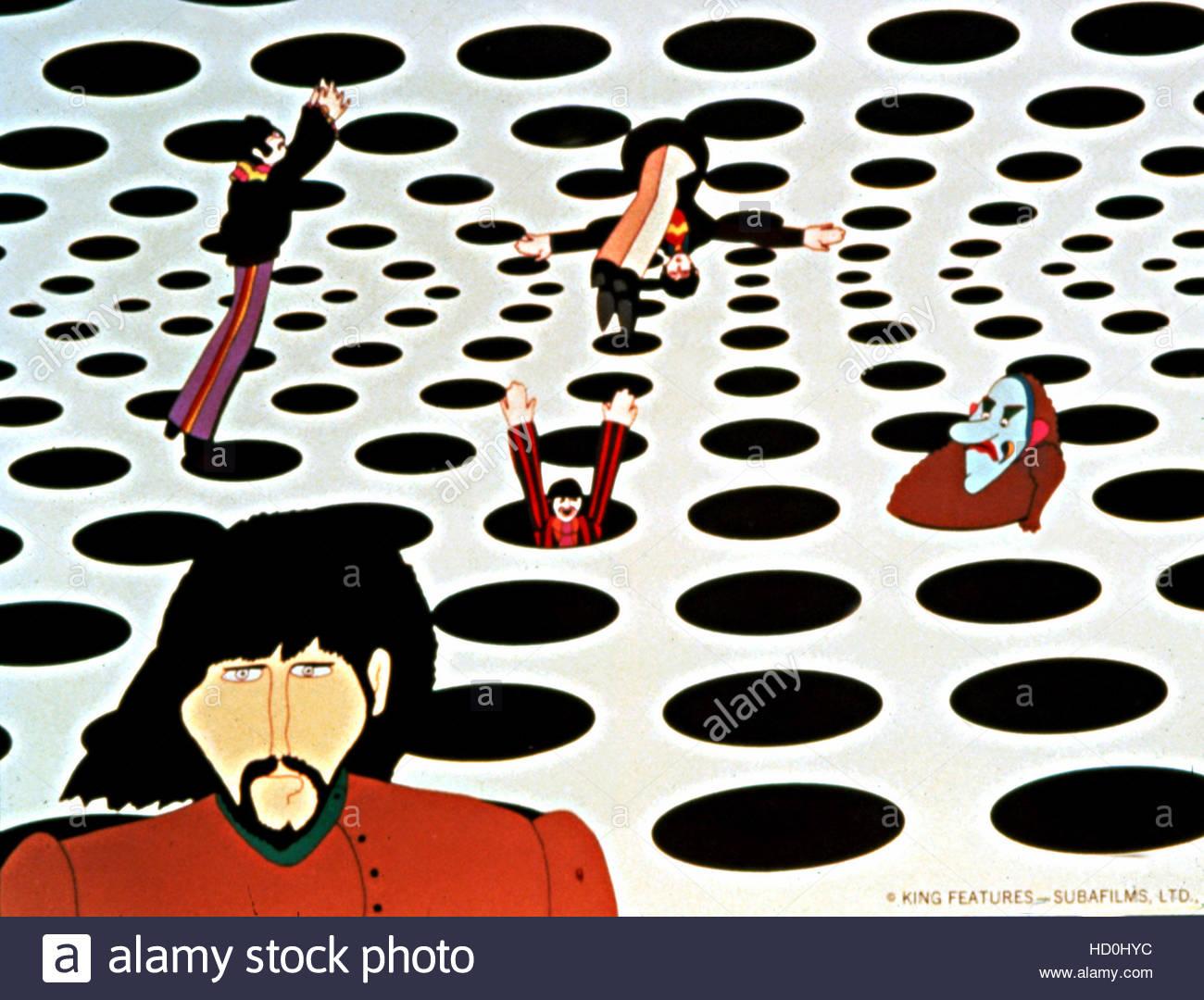 YELLOW SUBMARINE, The Beatles, with Jeremy, 1968. Stock Photo