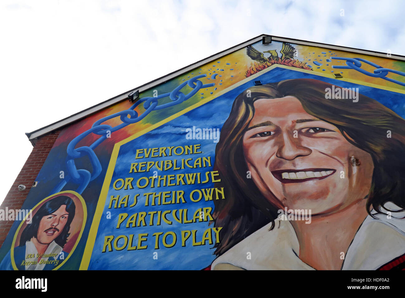 Road,painting,graffiti,resistance,IRA,peace,Northern Ireland,NI,UK,St,street,Eire,Irish,Republic,Irish Republic,conflict,Irish Republican Army,Political Change,Bobby,Sands,Everyone,in,a,revolution,smile,smiling,Bobby Sands,Everyone,in,a,revolution,has,their,part,to,play,GoTonySmith,@HotpixUK,Tony,Smith,UK,GB,Great,Britain,United,Kingdom,Irish,British,Ireland,problem,with,problem with,issue with,NI,Northern,Northern Ireland,Belfast,City,Centre,Art,Artists,the,troubles,The Troubles,Good Friday Agreement,Peace,honour,painting,wall,walls,tribute,republicanism,Fight,Justice,West,Beal,feirste,martyrs,social,tour,tourism,tourists,urban,six,counties,6,backdrop,county,Antrim,occupation,good,Friday,agreement,peace,reconciliation,IRA,terror,terrorists,genocide,catholic,community,catholics,Buy Pictures of,Buy Images Of,Images of,Stock Images,Tony Smith,United Kingdom,Great Britain,British Isles,republican cause,Belfast Catholic Community