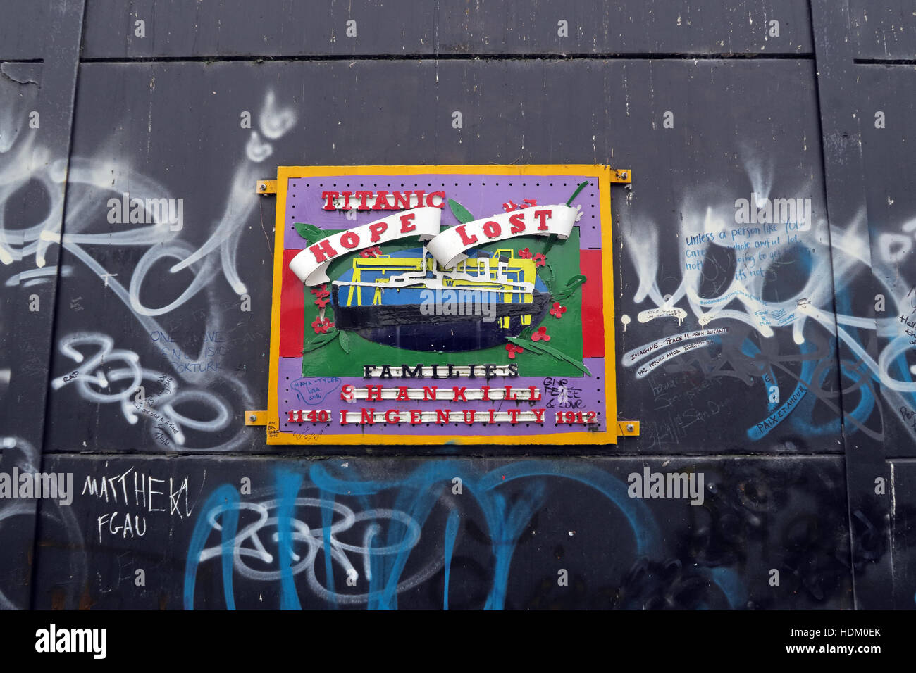 Northern Ireland,Peace,Wall,Cupar way,West Belfast,Belfast,Irish,art,artworks,artwork,Titanic,Hope,Lost,Shankill,ingenuity,1912,ingenuity,rd,Road,boat,ship,weld,welded,families,family,Berlin wall,Shankill ingenuity,RMS Titanic,Titanic Mural Shankill Road,GoTonySmith,@HotpixUK,Tony,Smith,UK,GB,Great,Britain,United,Kingdom,Irish,British,Ireland,problem,with,problem with,issue with,NI,Northern,Northern Ireland,Belfast,City,Centre,Art,Artists,the,troubles,The Troubles,Good Friday Agreement,Peace,honour,painting,wall,walls,tribute,Unionist,unionism,Protestant,Catholic,republican,Sinn Fein,community,Fight,Justice,West,Beal,feirste,martyrs,social,tour,tourism,tourists,urban,six,counties,6,backdrop,county,Antrim,UVF,DUP,British,GB,Empire,Buy Pictures of,Buy Images Of,Images of,Stock Images,Tony Smith,United Kingdom,Great Britain,British Isles,Belfast protestant community,Peoples army,Belfast catholic community,Irelands Berlin wall