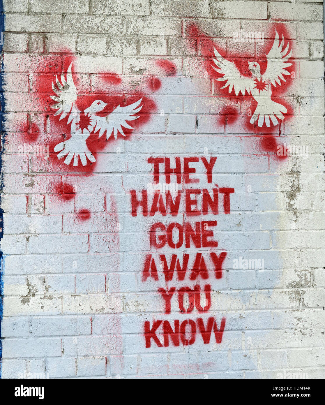 Northern Ireland,Peace,Wall,Cupar way,West Belfast,Belfast,Irish,art,artworks,artwork,Gerry,Adams,quote,quotation,IRA,Sinn Fein,provos,provisional,provisionals,stencil,stenciled,art,blood,red,Berlin wall,Gerry Adams,they Havent Gone Away You Know,they Havent Gone Away You Know,GoTonySmith,@HotpixUK,Tony,Smith,UK,GB,Great,Britain,United,Kingdom,Irish,British,Ireland,problem,with,problem with,issue with,NI,Northern,Northern Ireland,Belfast,City,Centre,Art,Artists,the,troubles,The Troubles,Good Friday Agreement,Peace,honour,painting,wall,walls,tribute,Unionist,unionism,Protestant,Catholic,republican,Sinn Fein,community,Fight,Justice,West,Beal,feirste,martyrs,social,tour,tourism,tourists,urban,six,counties,6,backdrop,county,Antrim,UVF,DUP,British,GB,Empire,Buy Pictures of,Buy Images Of,Images of,Stock Images,Tony Smith,United Kingdom,Great Britain,British Isles,Belfast protestant community,Peoples army,Belfast catholic community,Irelands Berlin wall