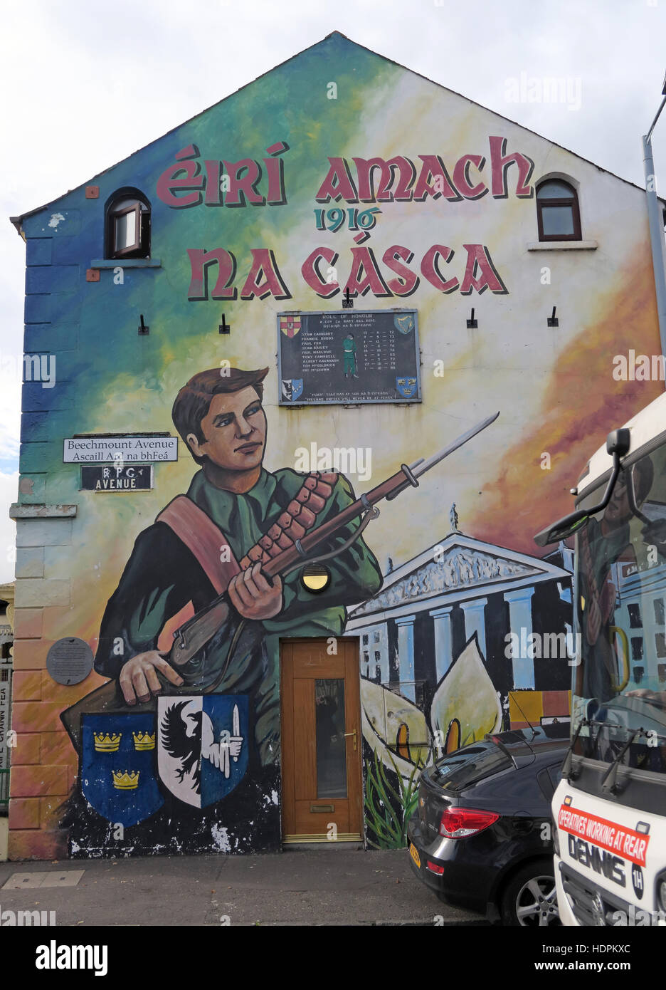 Road,painting,graffiti,resistance,IRA,peace,Northern Ireland,NI,UK,St,street,Eire,Irish,Republic,Irish Republic,conflict,Irish Republican Army,Political Change,RPG Avenue,RPG Ave,Beechmount Avenue,1916 Easter Rising,Beechmount,Beechmount Avenue,1916 Easter Rising,1916,Easter,Rising,GoTonySmith,@HotpixUK,Tony,Smith,UK,GB,Great,Britain,United,Kingdom,Irish,British,Ireland,problem,with,problem with,issue with,NI,Northern,Northern Ireland,Belfast,City,Centre,Art,Artists,the,troubles,The Troubles,Good Friday Agreement,Peace,honour,painting,wall,walls,tribute,republicanism,Fight,Justice,West,Beal,feirste,martyrs,social,tour,tourism,tourists,urban,six,counties,6,backdrop,county,Antrim,occupation,good,Friday,agreement,peace,reconciliation,IRA,terror,terrorists,genocide,catholic,community,catholics,Buy Pictures of,Buy Images Of,Images of,Stock Images,Tony Smith,United Kingdom,Great Britain,British Isles,republican cause,Irish History,Ireland History,Northern Ireland History,Belfast Catholic Community