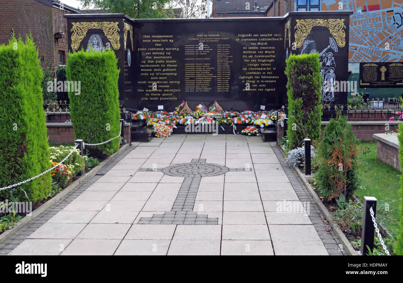 Falls,Road,rd,Garden,of,remembrance,IRA,members,deceased,ex-prisoners,West,Belfast,NI,UK,Falls,Cultural,Society,memorial,emotional,memorial,memory,of,republican,volunteers,vols,hero,heroes,cross,crucifix,Falls Cultural Society,GoTonySmith,@HotpixUK,Tony,Smith,UK,GB,Great,Britain,United,Kingdom,Irish,British,Ireland,problem,with,problem with,issue with,NI,Northern,Northern Ireland,Belfast,City,Centre,Art,Artists,the,troubles,The Troubles,Good Friday Agreement,Peace,honour,painting,wall,walls,tribute,republicanism,Fight,Justice,West,Beal,feirste,martyrs,social,tour,tourism,tourists,urban,six,counties,6,backdrop,county,Antrim,Catholic,community,Buy Pictures of,Buy Images Of,Images of,Stock Images,Tony Smith,United Kingdom,Great Britain,British Isles,Catholic Community