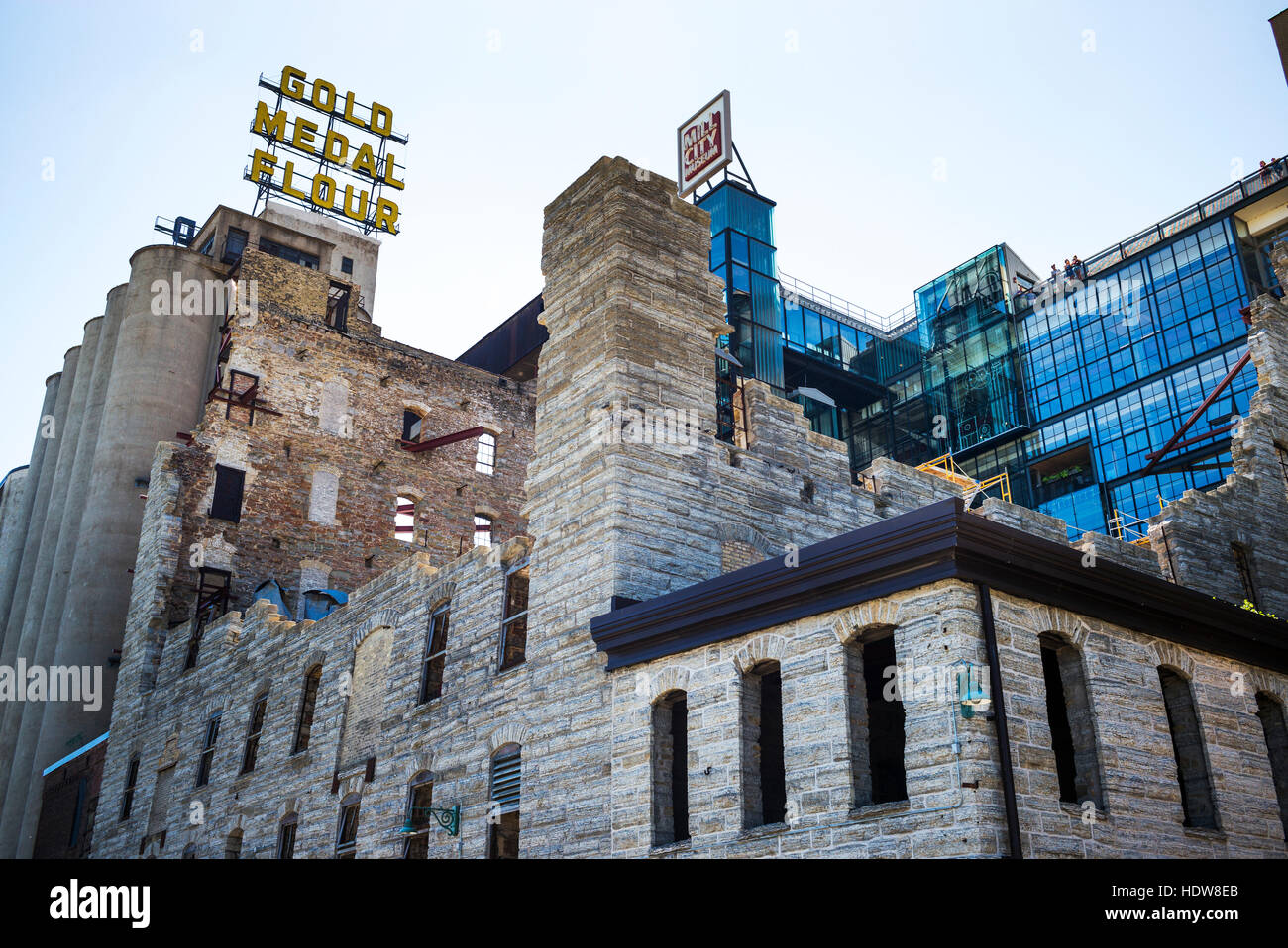 Mill City Museum; Minneapolis, Minnesota, United States of America Stock Photo