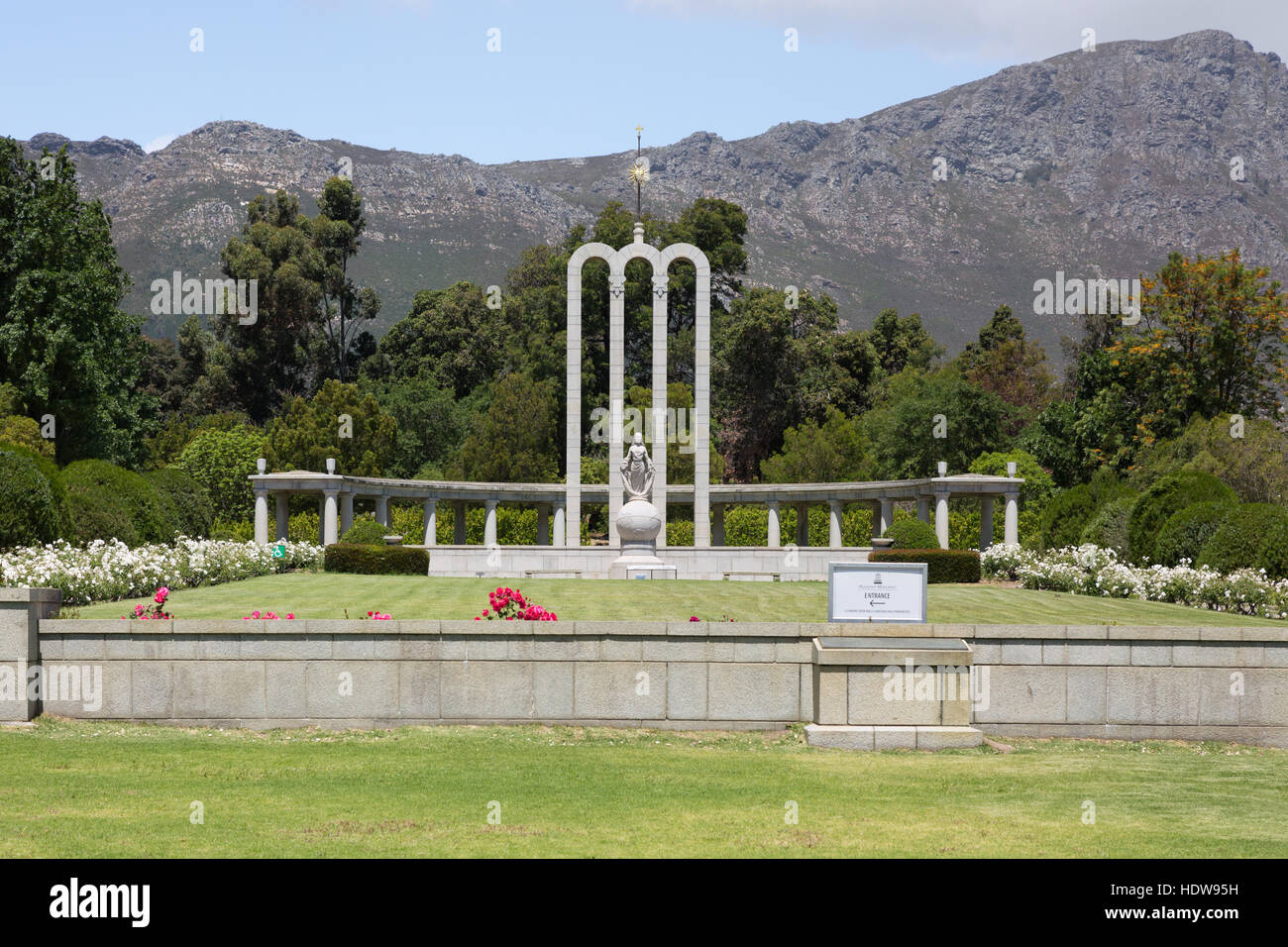 The Huguenot Monument, Franschhoek, South Africa - Stock Image