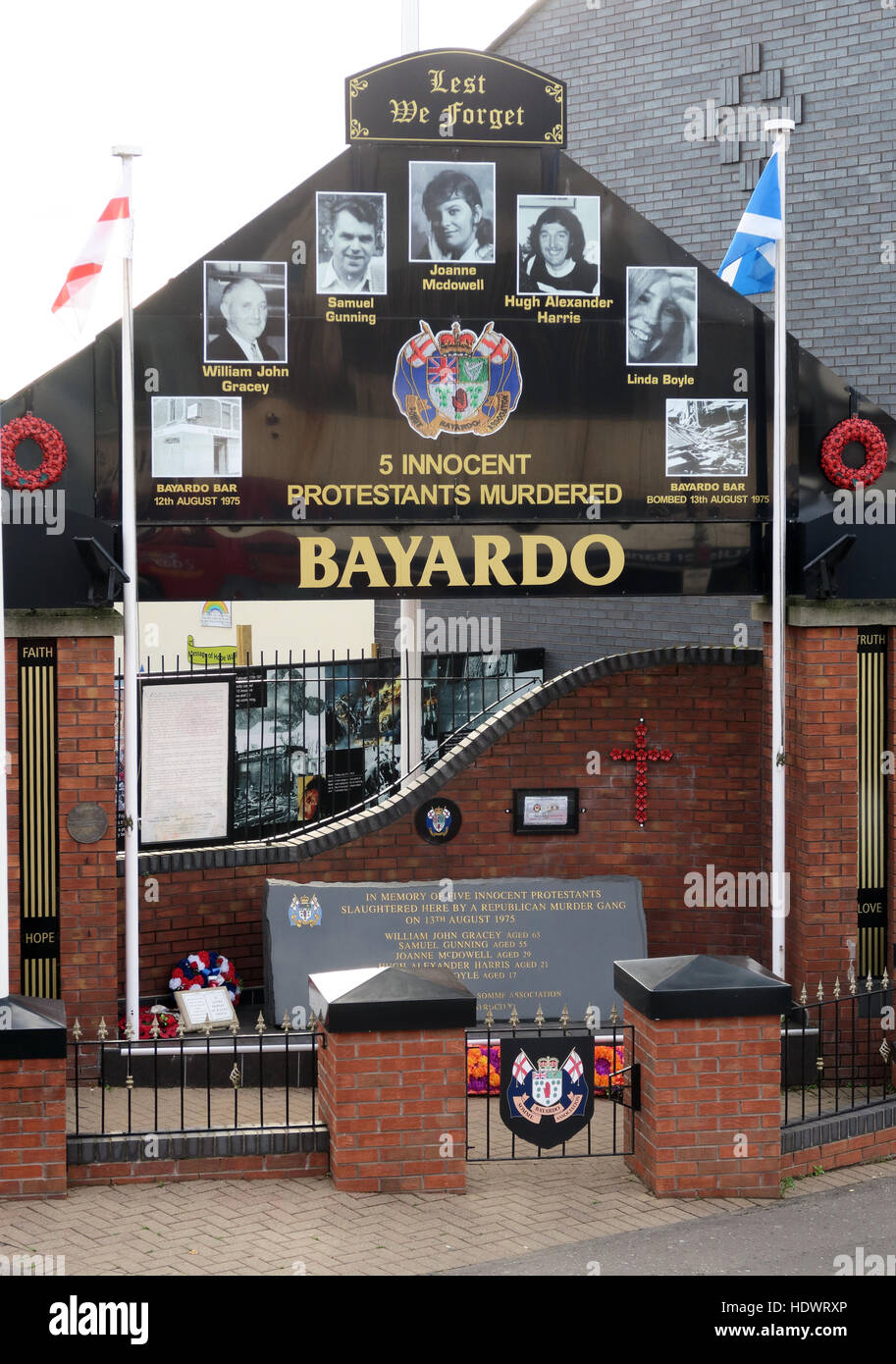 Bayardo,memorial,UFF,Unionist,mural,off,Shankill,rd,Road,West Belfast,Northern Ireland,UK,Ireland,fighter,fighting,innocents,murdered,murder,bars,pub,pubs,Lest We Forget,GoTonySmith,@HotpixUK,Tony,Smith,UK,GB,Great,Britain,United,Kingdom,Irish,British,Ireland,problem,with,problem with,issue with,NI,Northern,Northern Ireland,Belfast,City,Centre,Art,Artists,the,troubles,The Troubles,Good Friday Agreement,Peace,honour,painting,wall,walls,tribute,Unionist,unionism,Protestant,community,Fight,Justice,West,Beal,feirste,martyrs,social,tour,tourism,tourists,urban,six,counties,6,backdrop,county,Antrim,UVF,DUP,British,GB,Empire,Buy Pictures of,Buy Images Of,Images of,Stock Images,Tony Smith,United Kingdom,Great Britain,British Isles,Belfast protestant community,Peoples army