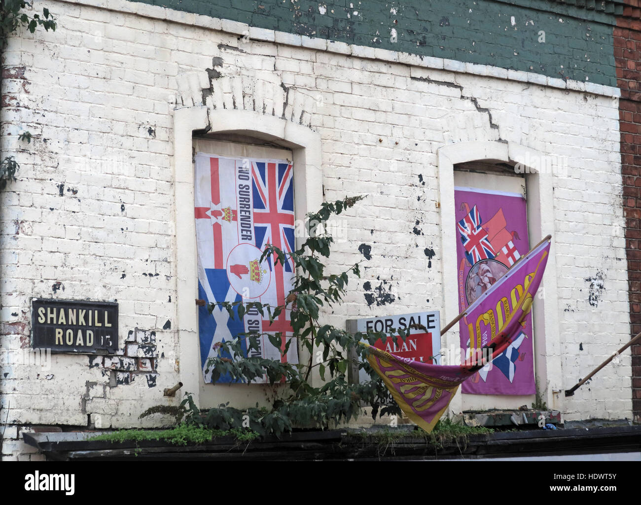 Red hand,Ulster,memorial,UFF,Unionist,mural,off,Shankill,rd,Road,West Belfast,Northern Ireland,UK,Ireland,fighter,fighting,flag,union,jack,sign,for,sale,poor,decay,decayed,derelict,rundown,run,down,Union Jack,road sign,Shankill Road Sign,For Sale,GoTonySmith,@HotpixUK,Tony,Smith,UK,GB,Great,Britain,United,Kingdom,Irish,British,Ireland,problem,with,problem with,issue with,NI,Northern,Northern Ireland,Belfast,City,Centre,Art,Artists,the,troubles,The Troubles,Good Friday Agreement,Peace,honour,painting,wall,walls,tribute,Unionist,unionism,Protestant,community,Fight,Justice,West,Beal,feirste,martyrs,social,tour,tourism,tourists,urban,six,counties,6,backdrop,county,Antrim,UVF,DUP,British,GB,Empire,Buy Pictures of,Buy Images Of,Images of,Stock Images,Tony Smith,United Kingdom,Great Britain,British Isles,Belfast protestant community,Peoples army