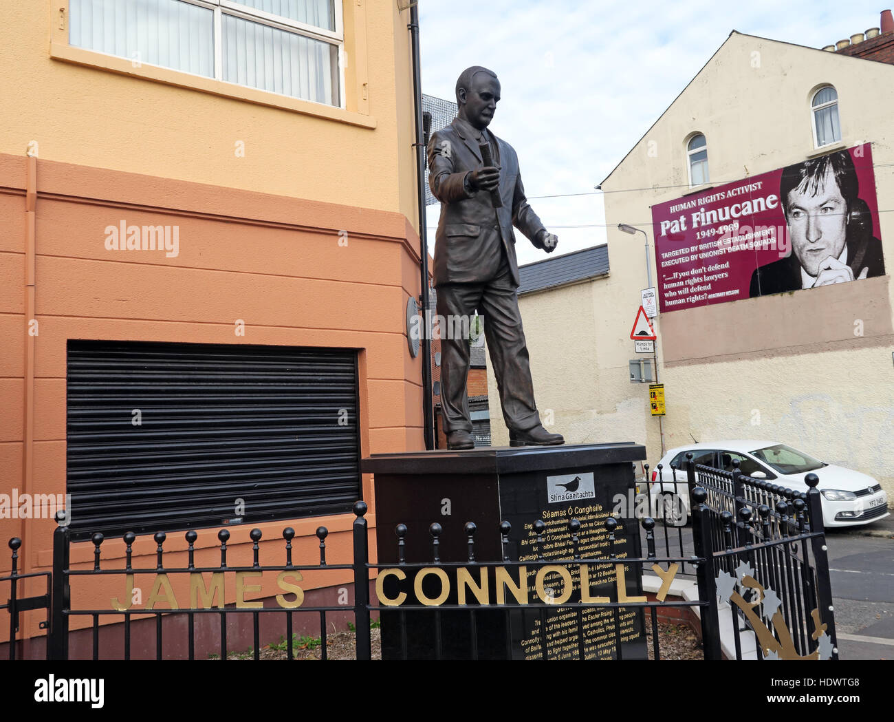 Road,painting,graffiti,resistance,IRA,peace,Northern Ireland,NI,UK,St,street,Eire,Irish,Republic,Irish Republic,conflict,Irish Republican Army,Political Change,Easter Rising,James Connolly,Seamus Ó Conghaile,outside,society,HQ,office,Erected,March,2016,James Connolly statue,bronze,Pat,Finucane,GoTonySmith,@HotpixUK,Tony,Smith,UK,GB,Great,Britain,United,Kingdom,Irish,British,Ireland,problem,with,problem with,issue with,NI,Northern,Northern Ireland,Belfast,City,Centre,Art,Artists,the,troubles,The Troubles,Good Friday Agreement,Peace,honour,painting,wall,walls,tribute,republicanism,Fight,Justice,West,Beal,feirste,martyrs,social,tour,tourism,tourists,urban,six,counties,6,backdrop,county,Antrim,occupation,good,Friday,agreement,peace,reconciliation,IRA,terror,terrorists,genocide,Buy Pictures of,Buy Images Of,Images of,Stock Images,Tony Smith,United Kingdom,Great Britain,British Isles,republican cause
