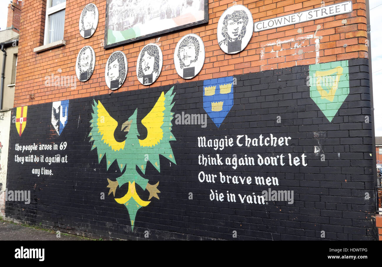 Road,painting,graffiti,resistance,IRA,peace,Northern Ireland,NI,UK,St,street,Eire,Irish,Republic,Irish Republic,conflict,Irish Republican Army,Political Change,Street,Maggie Thatcher,think again,our brave men,die in vain,GoTonySmith,@HotpixUK,Tony,Smith,UK,GB,Great,Britain,United,Kingdom,Irish,British,Ireland,problem,with,problem with,issue with,NI,Northern,Northern Ireland,Belfast,City,Centre,Art,Artists,the,troubles,The Troubles,Good Friday Agreement,Peace,honour,painting,wall,walls,tribute,republicanism,Fight,Justice,West,Beal,feirste,martyrs,social,tour,tourism,tourists,urban,six,counties,6,backdrop,county,Antrim,occupation,good,Friday,agreement,peace,reconciliation,IRA,terror,terrorists,genocide,Buy Pictures of,Buy Images Of,Images of,Stock Images,Tony Smith,United Kingdom,Great Britain,British Isles,republican cause