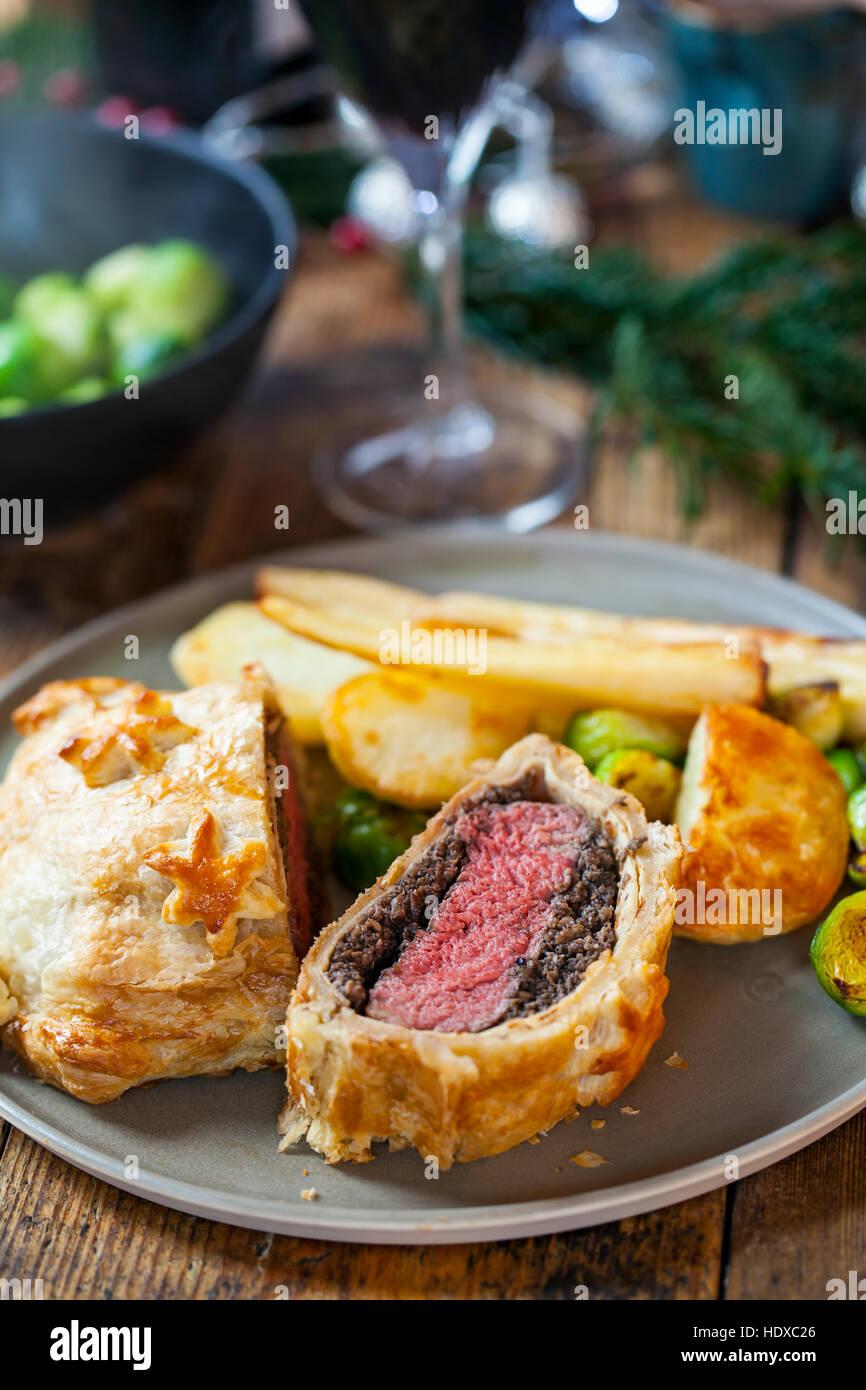 Traditional beef wellington - Stock Image