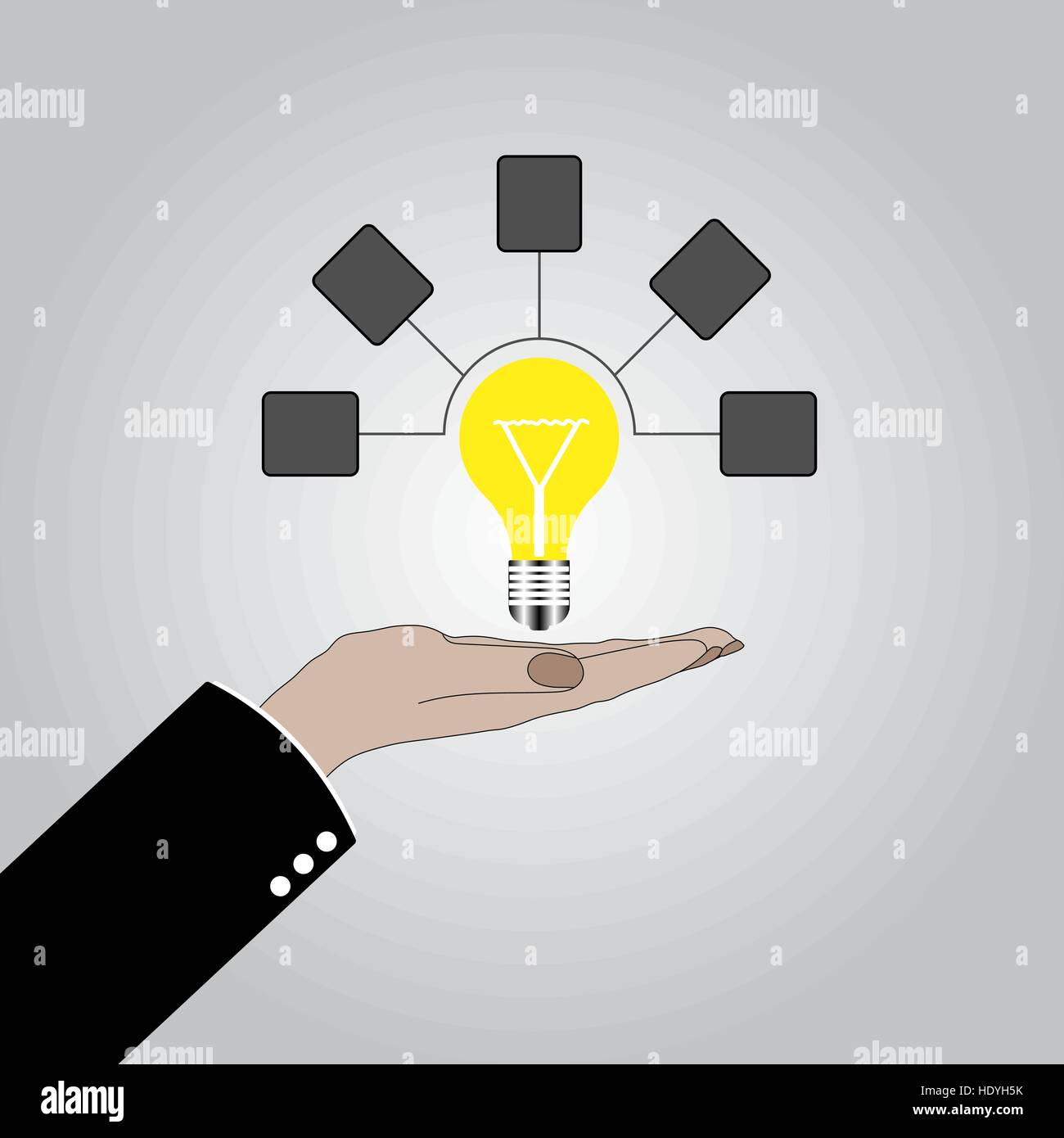hand holding lightbulb concept business idea solution innovative