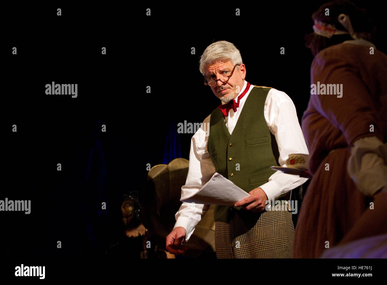 Geir Madland playing David in the comedy Hay Fever Stock Photo