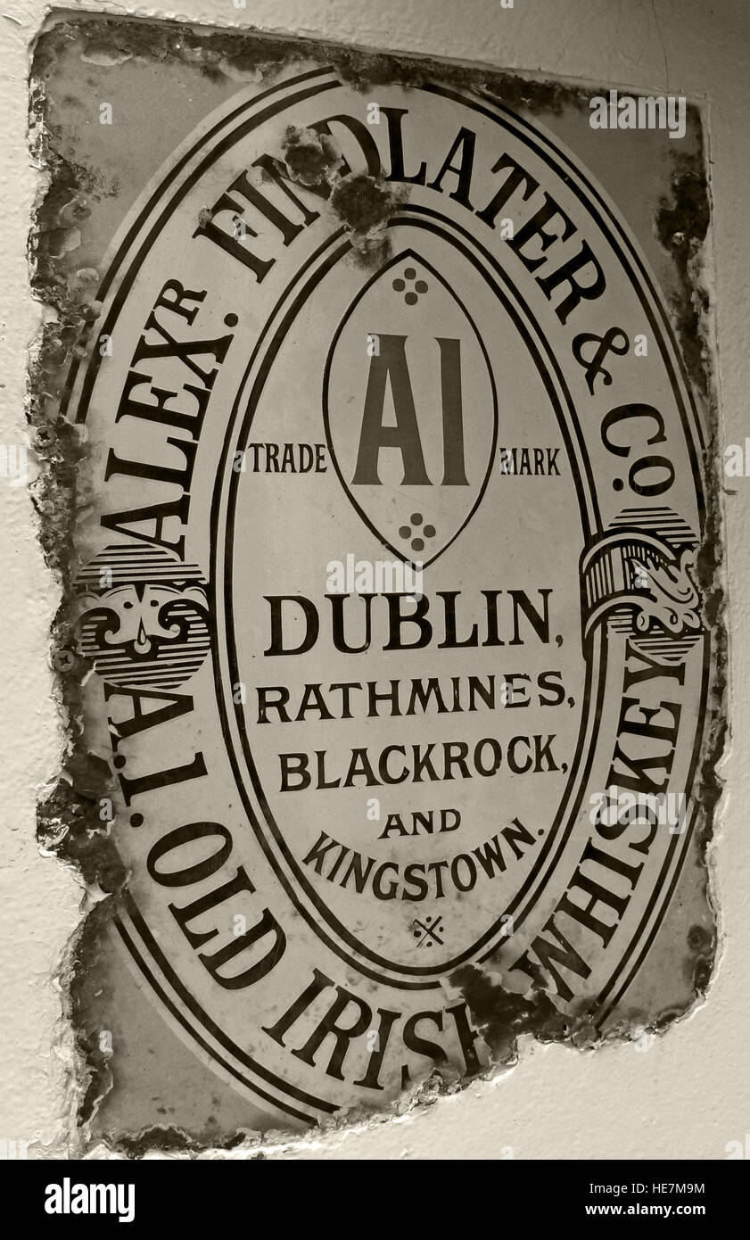 Findlater Old Irish Whiskey,Metal Sign,Whisky,Northern Ireland,UK,history,historic,AI,Alex,Dublin,Trademark,Rathmines,Blackrock,Kingstown,Kings,Town,Duke of York,duke,of,york,pub,bar,spirit,alcohol,sepia,BW,monochrome,old,GoTonySmith,@HotpixUK,Tony,Smith,UK,GB,Great,Britain,United,Kingdom,Irish,British,Ireland,problem,with,problem with,issue with,NI,Northern,Northern Ireland,Belfast,City,Centre,Art,Artists,the,troubles,The Troubles,Good Friday Agreement,Peace,honour,painting,wall,walls,tribute,republicanism,Fight,Justice,West,Beal,feirste,martyrs,social,tour,tourism,tourists,urban,six,counties,6,backdrop,county,Antrim,Quarter,Buy Pictures of,Buy Images Of,Images of,Stock Images,Tony Smith,United Kingdom,Great Britain,British Isles