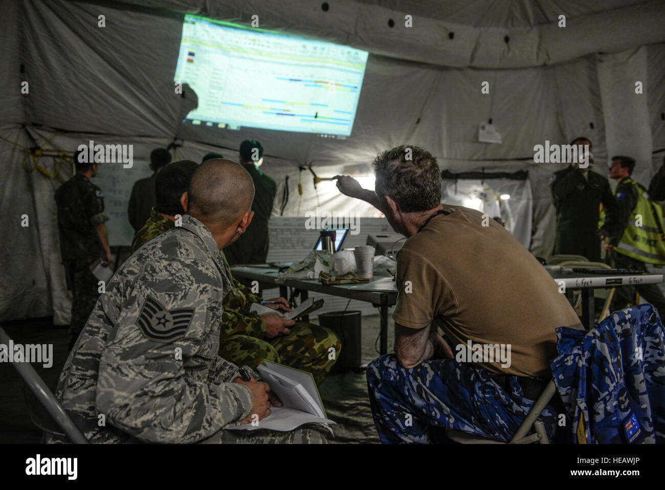 exercise planners from the u s and royal australian air force