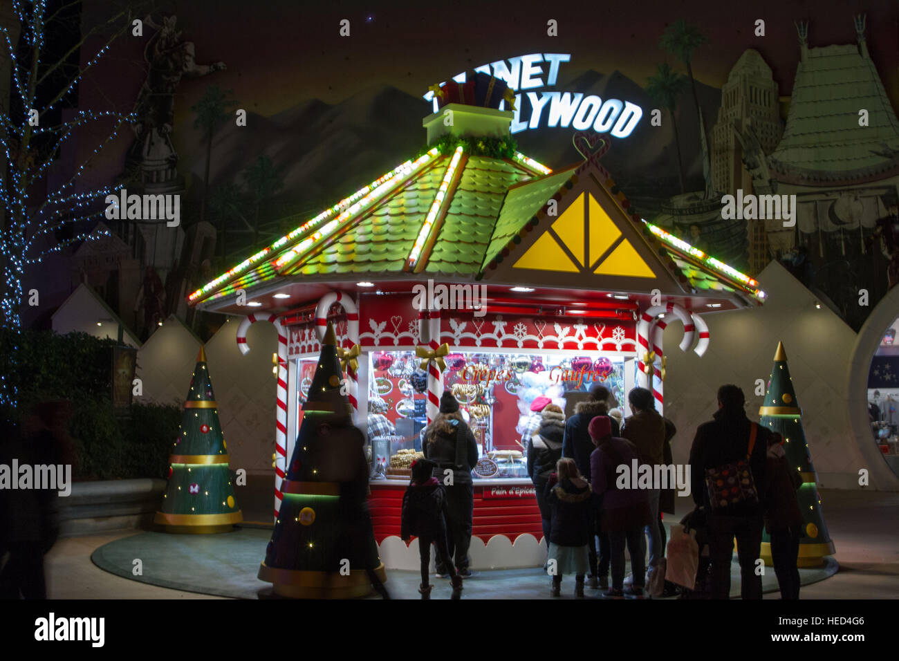Disney Village at Christmas season Stock Photo