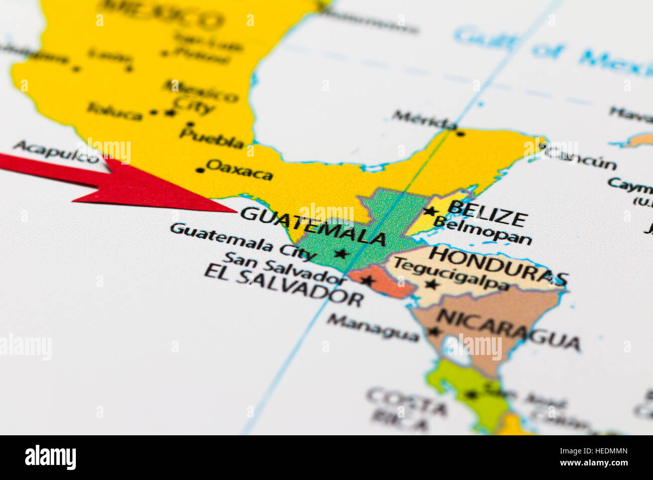 Red arrow pointing guatemala on the map of south central america red arrow pointing guatemala on the map of south central america continent gumiabroncs Image collections