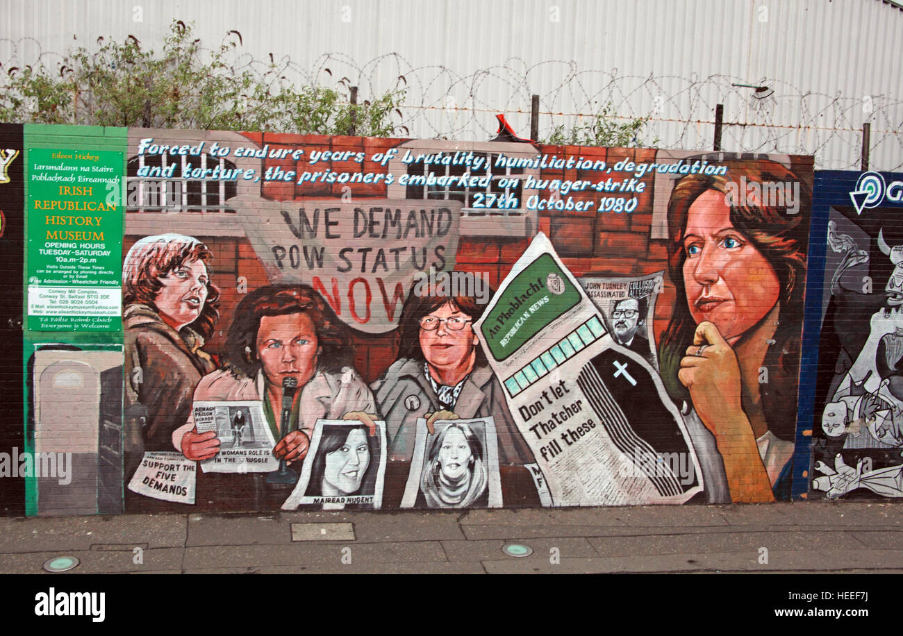 Road,painting,graffiti,resistance,IRA,peace,Northern Ireland,NI,UK,St,street,Eire,Irish,Republic,Irish Republic,conflict,Irish Republican Army,Political Change,POW,Prisoner of war,status,We,demand,Hunger,Strike,27th,October 1980,strikers,Support,The,Five,Demands,John Turnley,Mairead Nugent,GoTonySmith,@HotpixUK,Tony,Smith,UK,GB,Great,Britain,United,Kingdom,Irish,British,Ireland,problem,with,problem with,issue with,NI,Northern,Northern Ireland,Belfast,City,Centre,Art,Artists,the,troubles,The Troubles,Good Friday Agreement,Peace,honour,painting,wall,walls,tribute,republicanism,Fight,Justice,West,Beal,feirste,martyrs,social,tour,tourism,tourists,urban,six,counties,6,backdrop,county,Antrim,occupation,good,Friday,agreement,peace,reconciliation,IRA,terror,terrorists,genocide,catholic,community,catholics,Buy Pictures of,Buy Images Of,Images of,Stock Images,Tony Smith,United Kingdom,Great Britain,British Isles,republican cause,Belfast Catholic Community