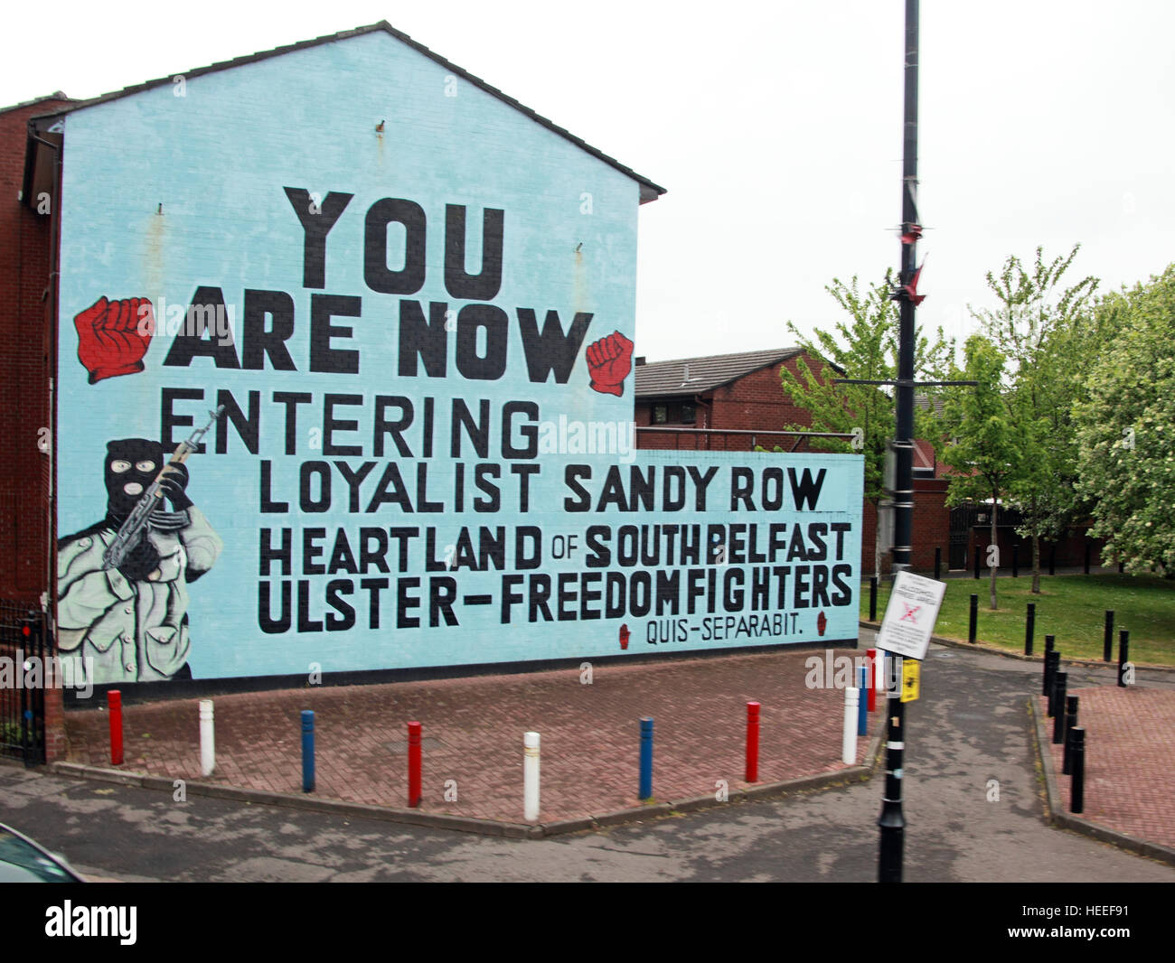 Mural,art,British,Union,wall,walls,gable end,gable,end,Northern,Irish,Republican,violence,para,military,paramilitary,fallen,Martyrs,martyr,street,rd,road,painting,painted,symbolism,Loyalist,culture,history,community,SandyRow,UFF,You,are,now,entering,Loyalist,Sandy,Row,Heartland,of,South,Belfast,GoTonySmith,@HotpixUK,Tony,Smith,UK,GB,Great,Britain,United,Kingdom,Irish,British,Ireland,problem,with,problem with,issue with,NI,Northern,Northern Ireland,Belfast,City,Centre,Art,Artists,the,troubles,The Troubles,Good Friday Agreement,Peace,honour,painting,wall,walls,tribute,republicanism,Fight,Justice,West,Beal,feirste,martyrs,social,tour,tourism,tourists,urban,six,counties,6,backdrop,county,Antrim,Shankill,Rd,Road,Royal,Royalist,Loyalist,Belfast streets,Buy Pictures of,Buy Images Of,Images of,Stock Images,Tony Smith,United Kingdom,Great Britain,British Isles,Irish History,Ireland History,Northern Ireland History