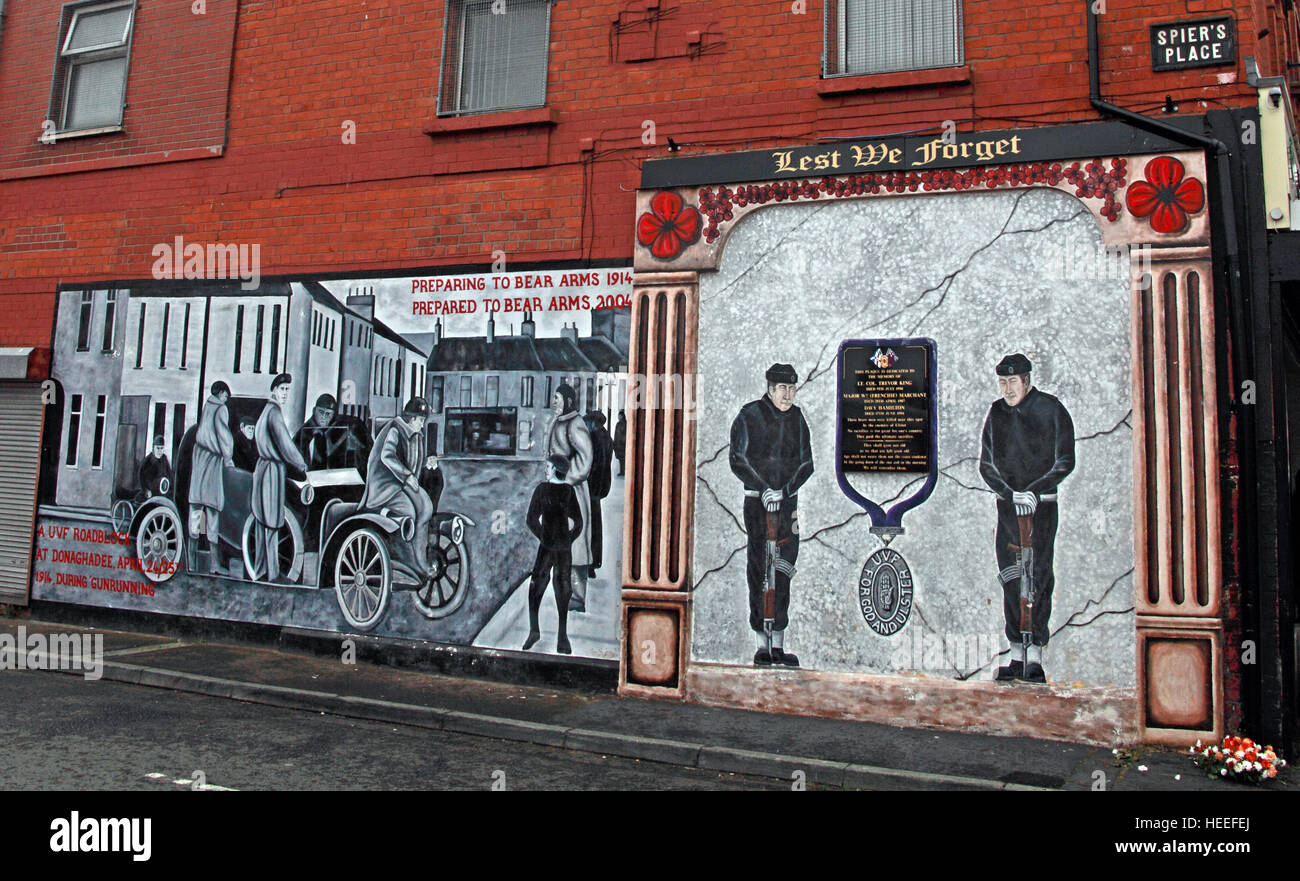 Mural,art,British,Union,wall,walls,gable end,gable,end,Northern,Irish,Republican,violence,para,military,paramilitary,fallen,Martyrs,martyr,street,rd,road,painting,painted,symbolism,Loyalist,culture,history,community,Donaghadee,April,24th,1914,gunrunning,orange,GoTonySmith,@HotpixUK,Tony,Smith,UK,GB,Great,Britain,United,Kingdom,Irish,British,Ireland,problem,with,problem with,issue with,NI,Northern,Northern Ireland,Belfast,City,Centre,Art,Artists,the,troubles,The Troubles,Good Friday Agreement,Peace,honour,painting,wall,walls,tribute,republicanism,Fight,Justice,West,Beal,feirste,martyrs,social,tour,tourism,tourists,urban,six,counties,6,backdrop,county,Antrim,Shankill,Rd,Road,Royal,Royalist,Loyalist,Belfast streets,Buy Pictures of,Buy Images Of,Images of,Stock Images,Tony Smith,United Kingdom,Great Britain,British Isles