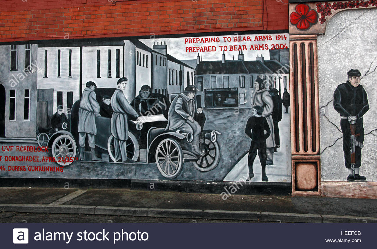 Mural,art,British,Union,wall,walls,gable end,gable,end,Northern,Irish,Republican,violence,para,military,paramilitary,fallen,Martyrs,martyr,street,rd,road,painting,painted,symbolism,Loyalist,culture,history,community,Mural-,Preparing,to,bear,arms,1914,prepared,to,bear,arms,2004,BW,gray,orange,GoTonySmith,@HotpixUK,Tony,Smith,UK,GB,Great,Britain,United,Kingdom,Irish,British,Ireland,problem,with,problem with,issue with,NI,Northern,Northern Ireland,Belfast,City,Centre,Art,Artists,the,troubles,The Troubles,Good Friday Agreement,Peace,honour,painting,wall,walls,tribute,republicanism,Fight,Justice,West,Beal,feirste,martyrs,social,tour,tourism,tourists,urban,six,counties,6,backdrop,county,Antrim,Shankill,Rd,Road,Royal,Royalist,Loyalist,Buy Pictures of,Buy Images Of,Images of,Stock Images,Tony Smith,United Kingdom,Great Britain,British Isles
