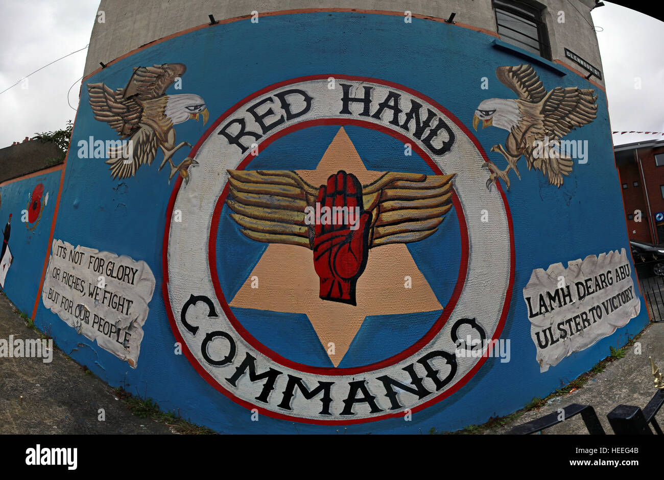 Mural,art,British,Union,wall,walls,gable end,gable,end,Northern,Irish,Republican,violence,para,military,paramilitary,fallen,Martyrs,martyr,street,rd,road,painting,painted,symbolism,Loyalist,culture,history,community,Ulster,Red hand,loyalist,royalist,Glenwood,St,its,not,for,glory,or,riches,we,fight,GoTonySmith,@HotpixUK,Tony,Smith,UK,GB,Great,Britain,United,Kingdom,Irish,British,Ireland,problem,with,problem with,issue with,NI,Northern,Northern Ireland,Belfast,City,Centre,Art,Artists,the,troubles,The Troubles,Good Friday Agreement,Peace,honour,painting,wall,walls,tribute,republicanism,Fight,Justice,West,Beal,feirste,martyrs,social,tour,tourism,tourists,urban,six,counties,6,backdrop,county,Antrim,Lamf,dearg,abu,Ulster,Victory,but,for,our,people,eagle,Belfast streets,Buy Pictures of,Buy Images Of,Images of,Stock Images,Tony Smith,United Kingdom,Great Britain,British Isles