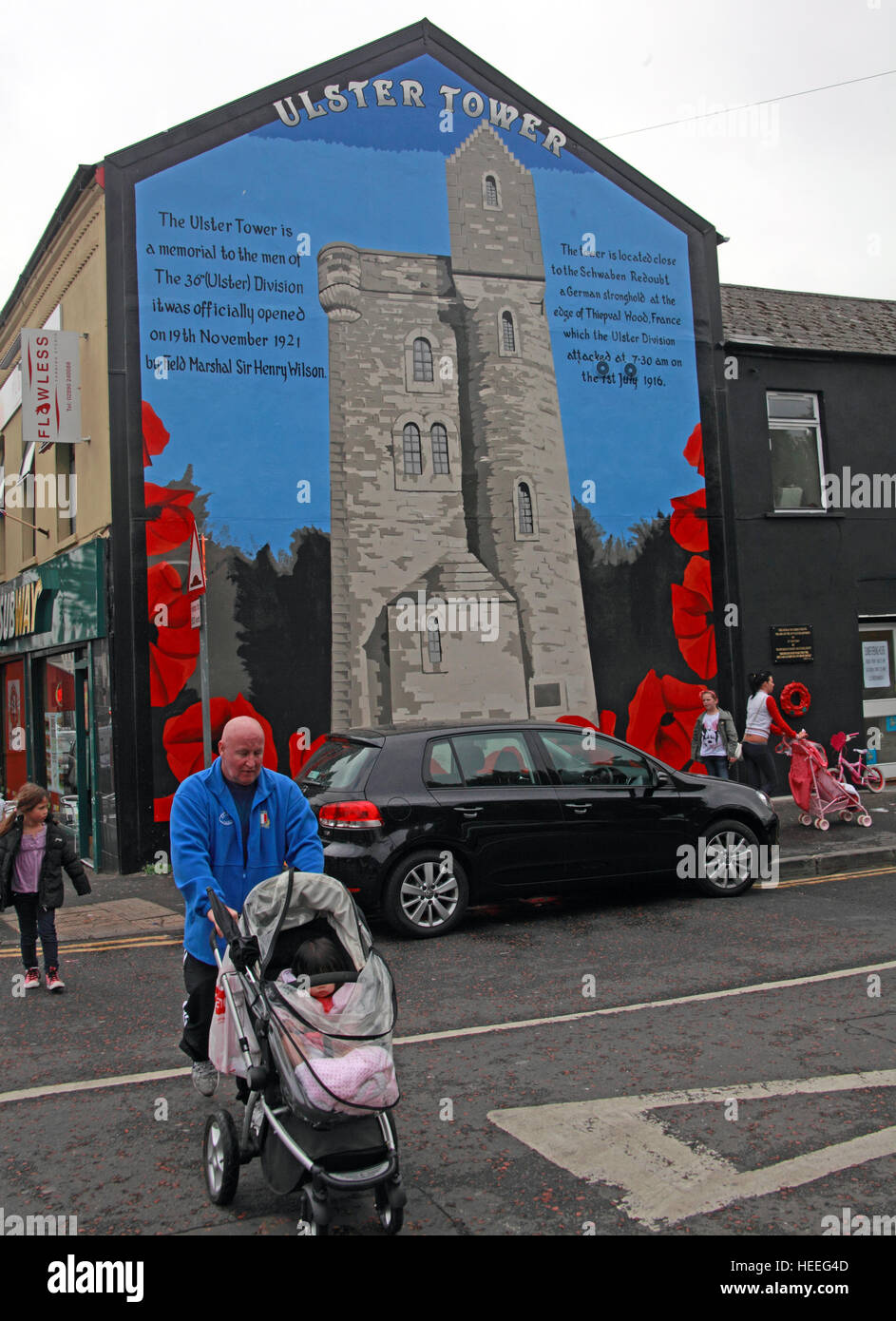 Mural,art,British,Union,wall,walls,gable end,gable,end,Northern,Irish,Republican,violence,para,military,paramilitary,fallen,Martyrs,martyr,street,rd,road,painting,painted,symbolism,Loyalist,culture,history,community,36th,field,marshal,Sir,Henry,Wilson,Schwaben,Redoubt,Somme,battle,of,orange,GoTonySmith,@HotpixUK,Tony,Smith,UK,GB,Great,Britain,United,Kingdom,Irish,British,Ireland,problem,with,problem with,issue with,NI,Northern,Northern Ireland,Belfast,City,Centre,Art,Artists,the,troubles,The Troubles,Good Friday Agreement,Peace,honour,painting,wall,walls,tribute,republicanism,Fight,Justice,West,Beal,feirste,martyrs,social,tour,tourism,tourists,urban,six,counties,6,backdrop,county,Antrim,Shankill,Rd,Road,Royal,Royalist,Loyalist,Belfast streets,Buy Pictures of,Buy Images Of,Images of,Stock Images,Tony Smith,United Kingdom,Great Britain,British Isles