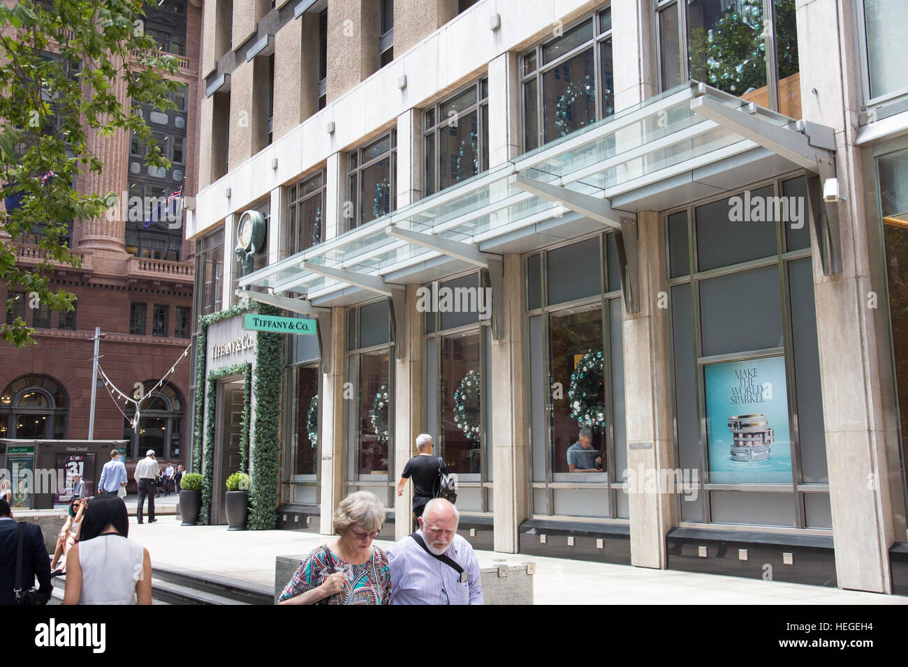 1de7aa932e7 Tiffany luxury goods and jewelry store shop in Castlereagh Stock ...