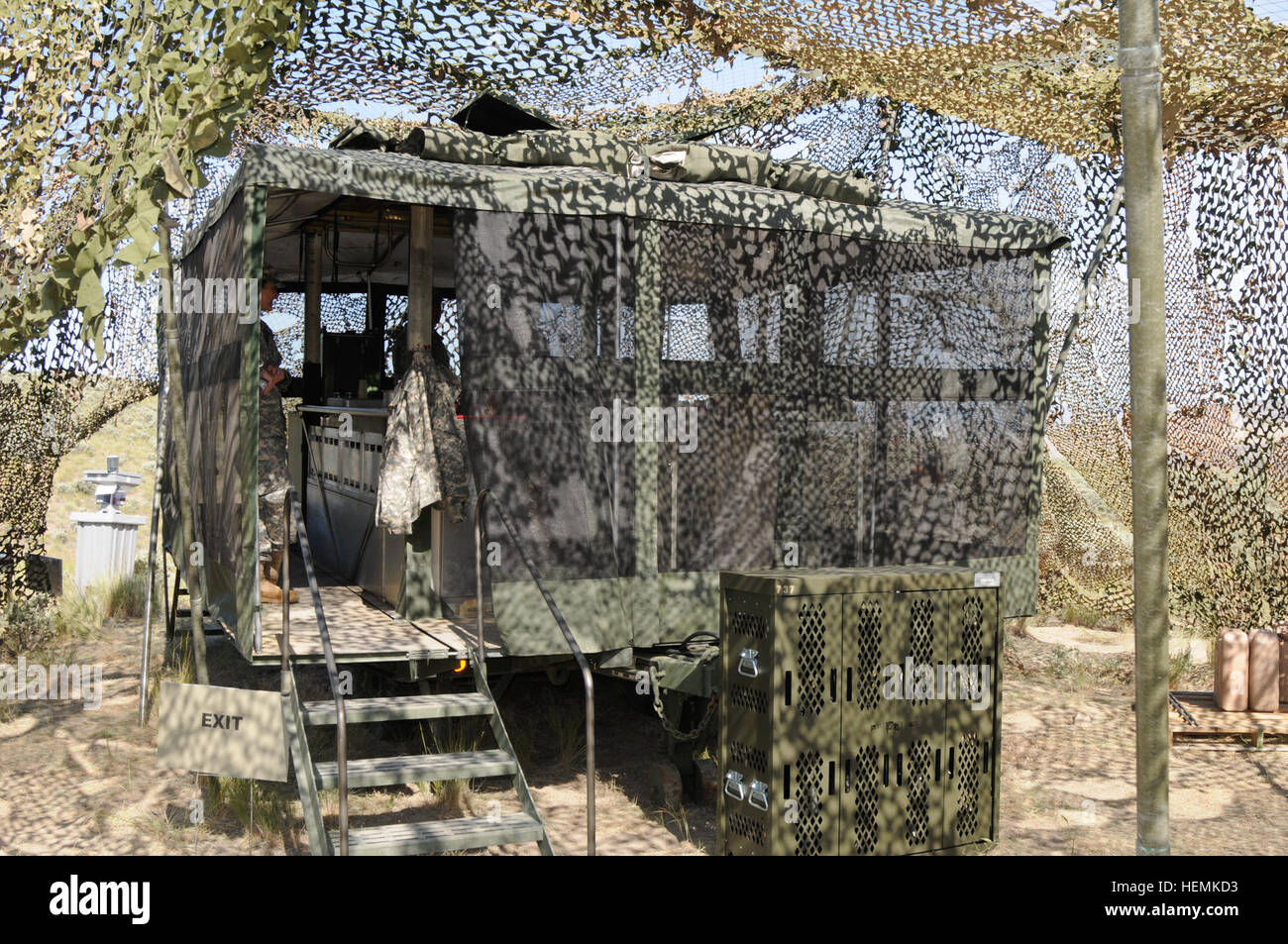 A Mobile Kitchen Trailer, used by the 737th Transportation Company ...