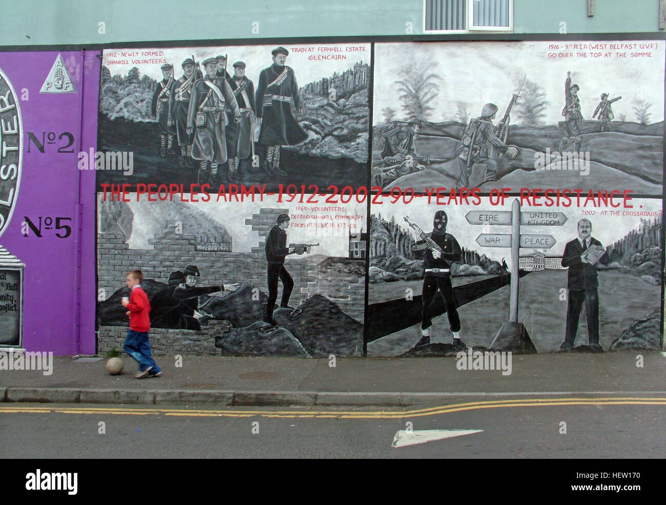 Unionist,British,Shankil,rd,painting,art,artist,martyr,fighter,para,paramilitary,soldier,wall,gable,end,gable end,community,protestant,Shankill Road Mural,West,West Belfast,NI,Northern Ireland,90 years of resistance,ninety,boy,football,ball,kick,kicking,child,children,streets of Belfast,GoTonySmith,@HotpixUK,Tony,Smith,UK,GB,Great,Britain,United,Kingdom,Irish,British,Ireland,problem,with,problem with,issue with,NI,Northern,Northern Ireland,Belfast,City,Centre,Art,Artists,the,troubles,The Troubles,Good Friday Agreement,Peace,honour,painting,wall,walls,tribute,unionism,Fight,Justice,West,Beal,feirste,martyrs,social,tour,tourism,tourists,urban,six,counties,6,backdrop,county,Antrim,DUP,democratic Unionist,red hand,of Ulster,Red Hand Of Ulster,Shankill,Rd,road,Shankill Road,streets of Belfast,Buy Pictures of,Buy Images Of,Images of,Stock Images,Tony Smith,United Kingdom,Great Britain,British Isles,Irish History,Ireland History,Northern Ireland History