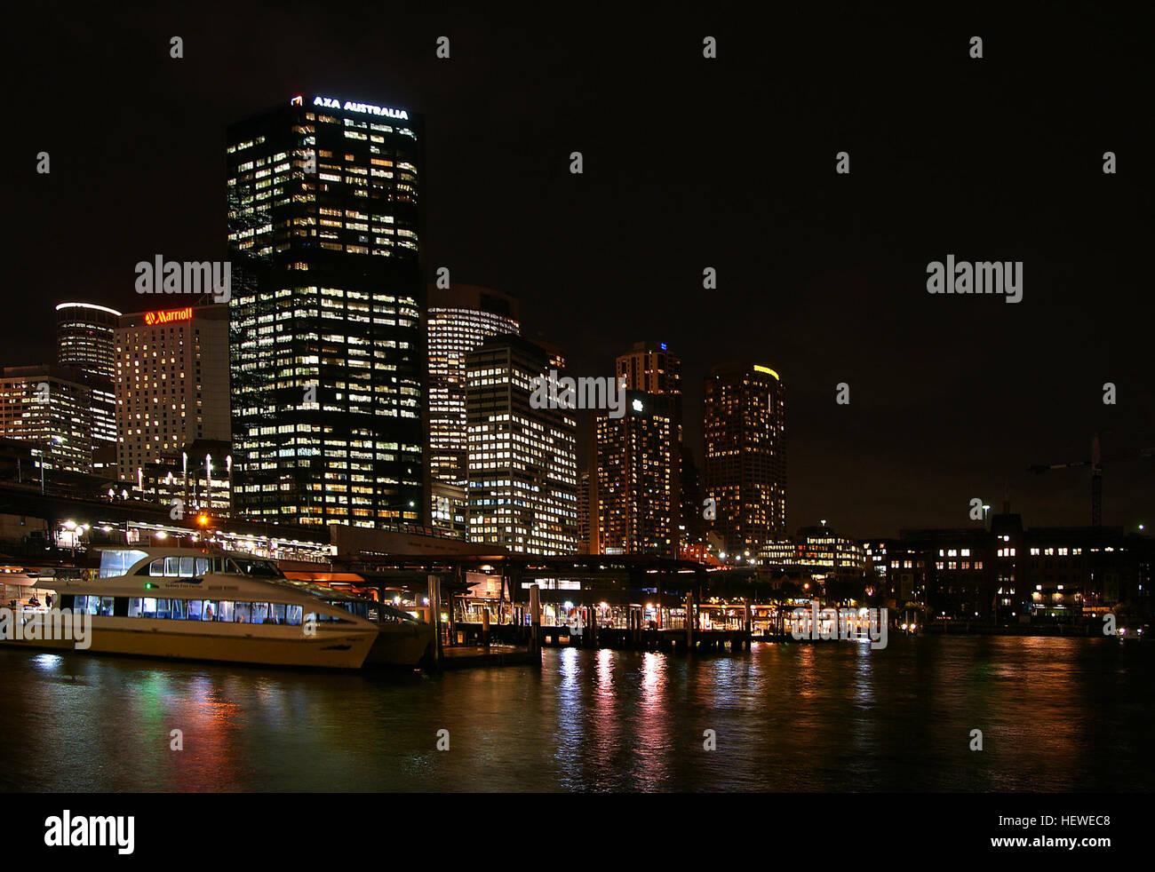 Boats Sydney,City Lights,Ferries,Ferry,Harbour Cruises,High Rise,Niight  Views Sydney,Sydney Australia,Sydney Habour,Sydney Harbour Bridge,Sydney  Opera Hpuse ...