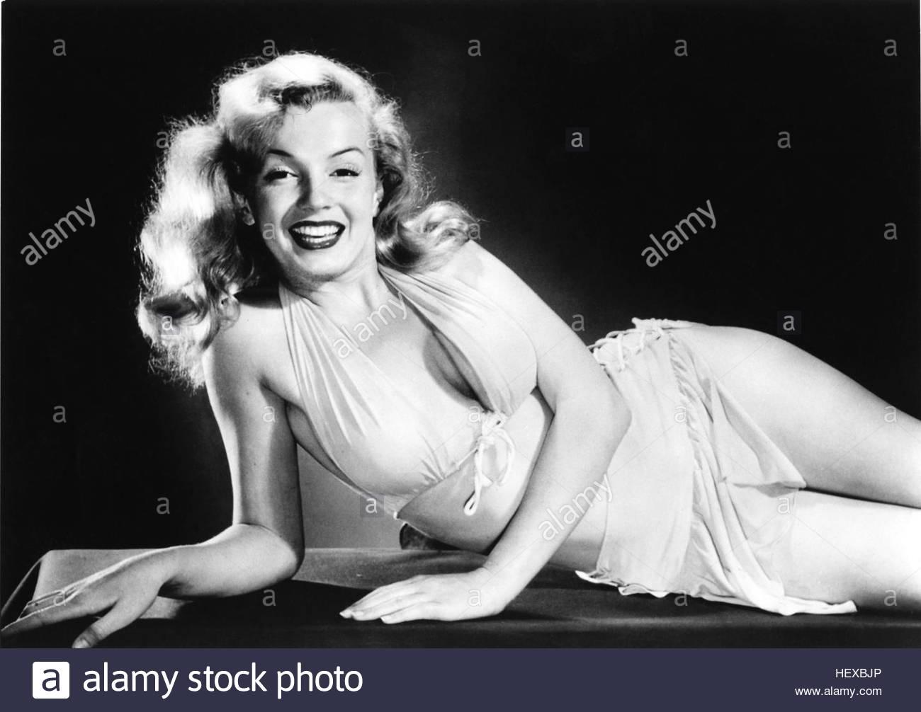 American actress Marilyn Monroe (1926 - 1962), circa 1950. - Stock Image