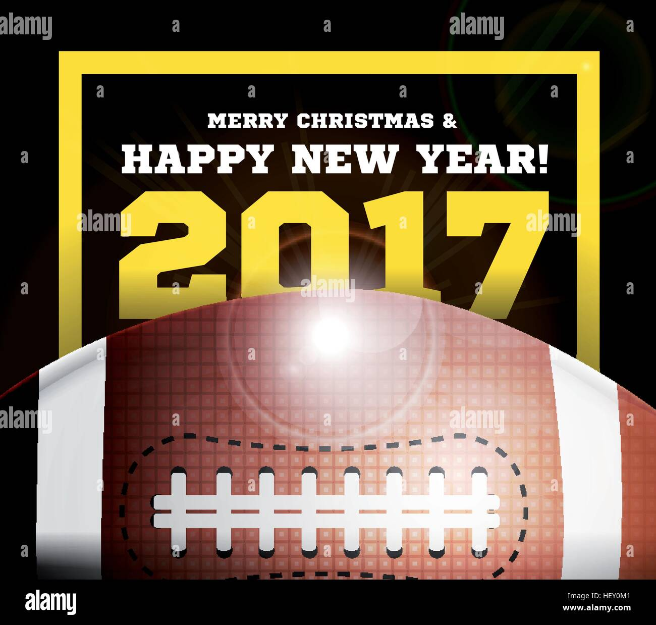 Happy New Year On The Background Of A Ball For Football Stock Vector