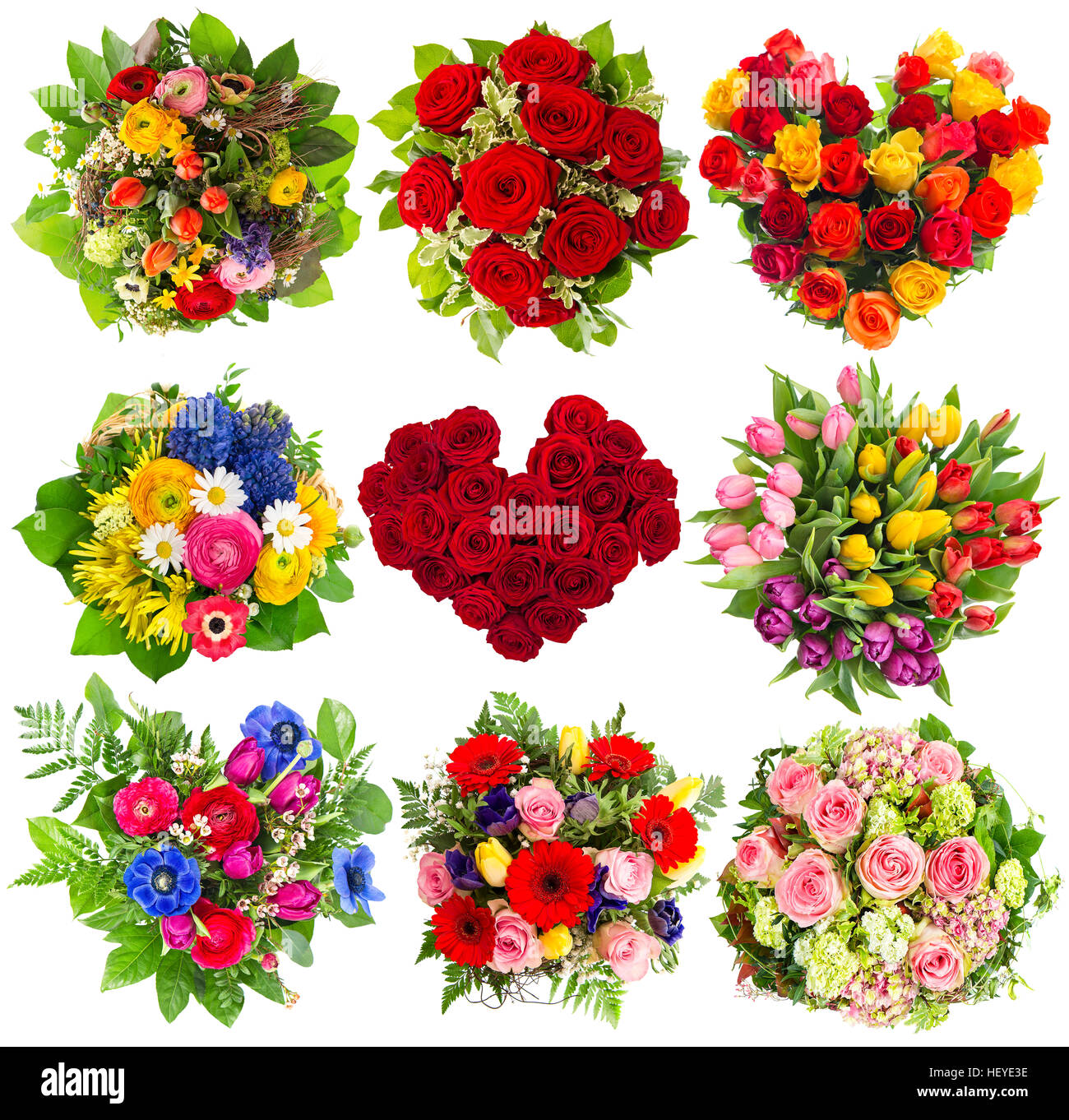 Bouquets of colorful flowers for Birthday, Wedding, Mothers Day ...
