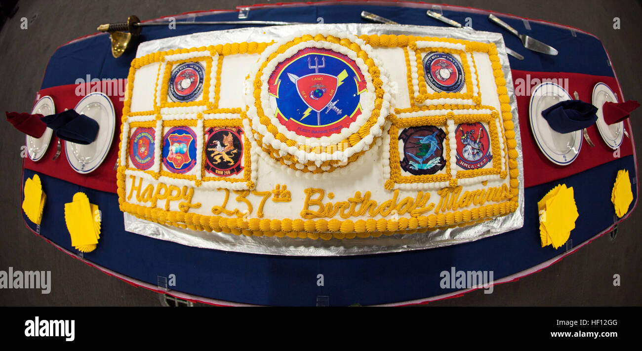 A Birthday Cake For The Marines And Sailors Assigned To The 26th