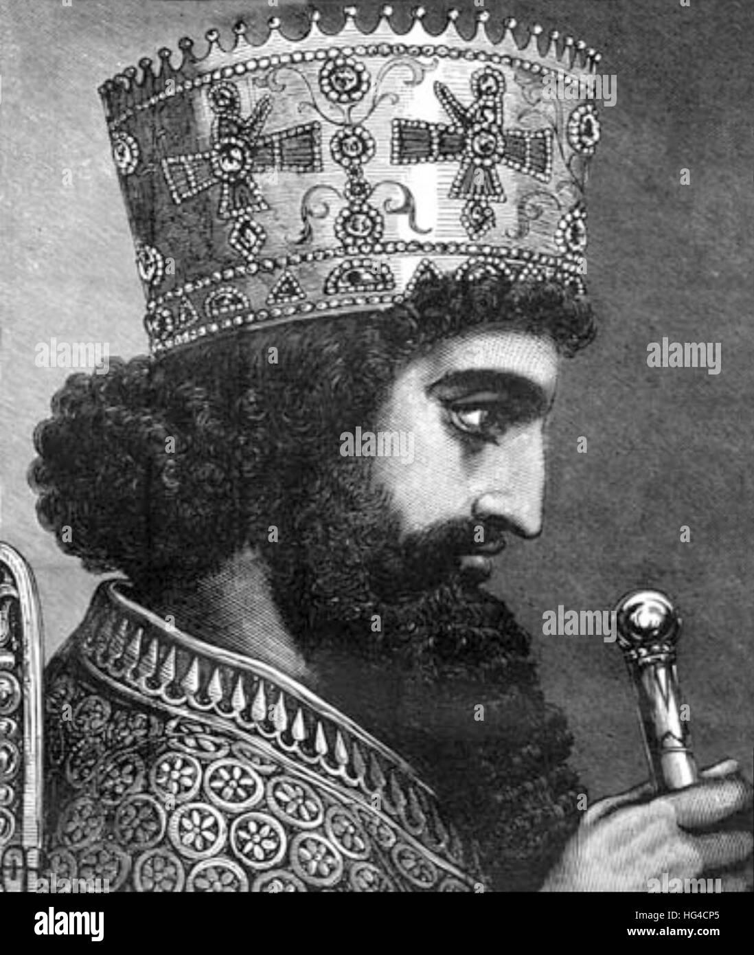 Xerxes, Xerxes I, King of Persia - Stock Image