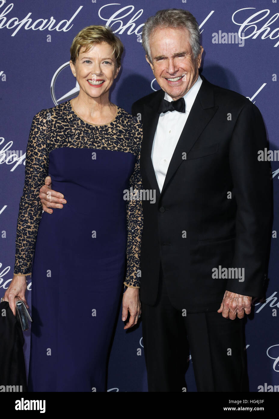 January 3rd, 2017 - Palm Springs  Annette Bening and Warren Beatty attend the 28th Annual Palm Springs International Stock Photo