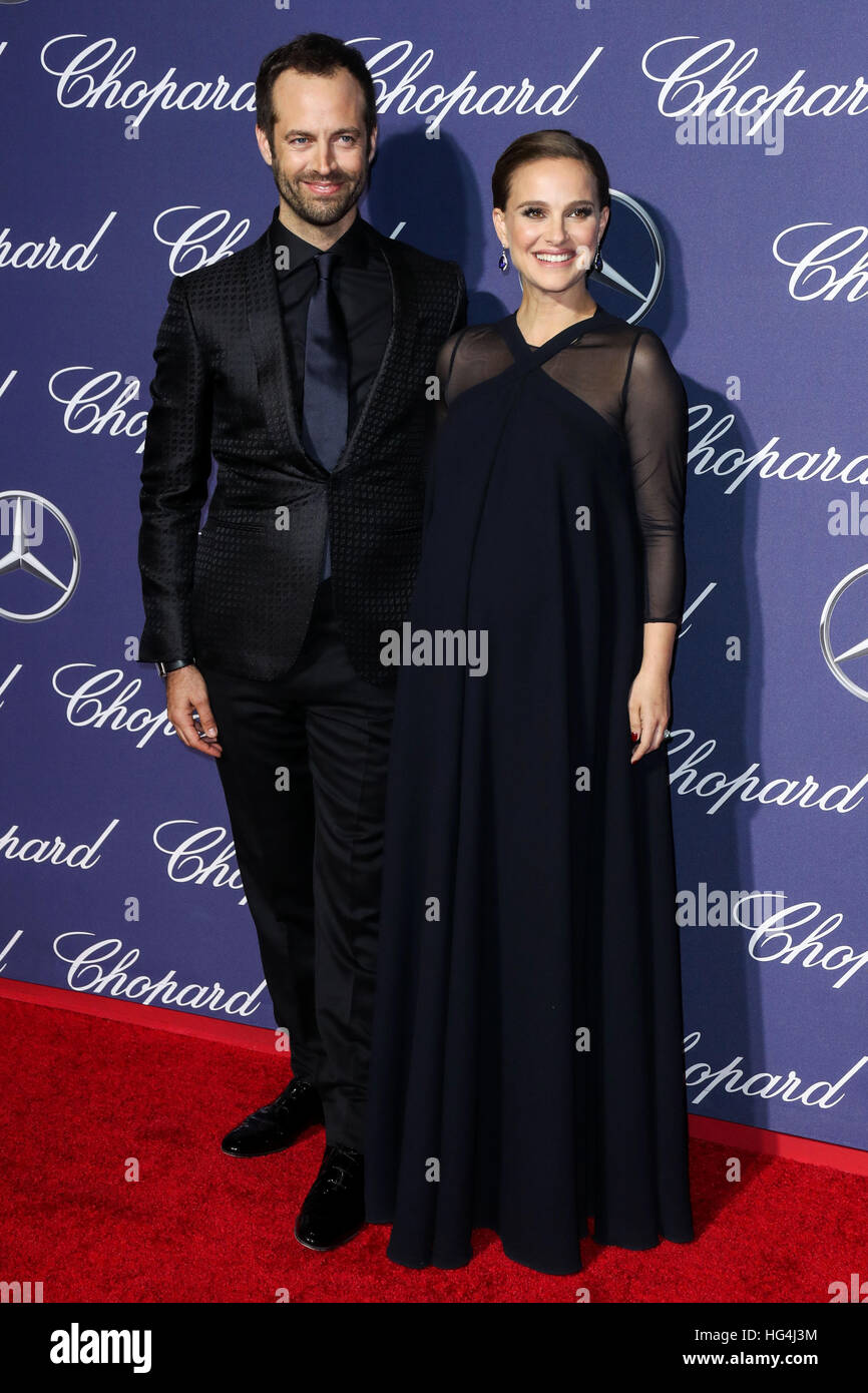January 3rd, 2017 - Palm Springs  Benjamin Millepied, Natalie Portman attend the 28th Annual Palm Springs International Stock Photo