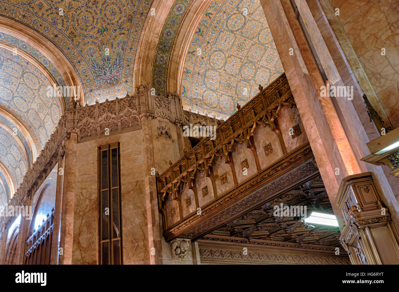 Interior Architectural Details Of The Lobby Of The Landmarked Woolworth  Building In New York Designed By Architect Cass Gilbert