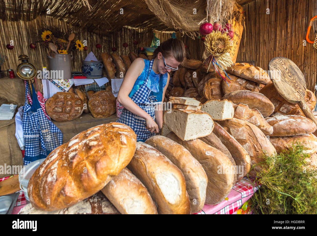 Bread shop in in Gdansk City - Stock Image
