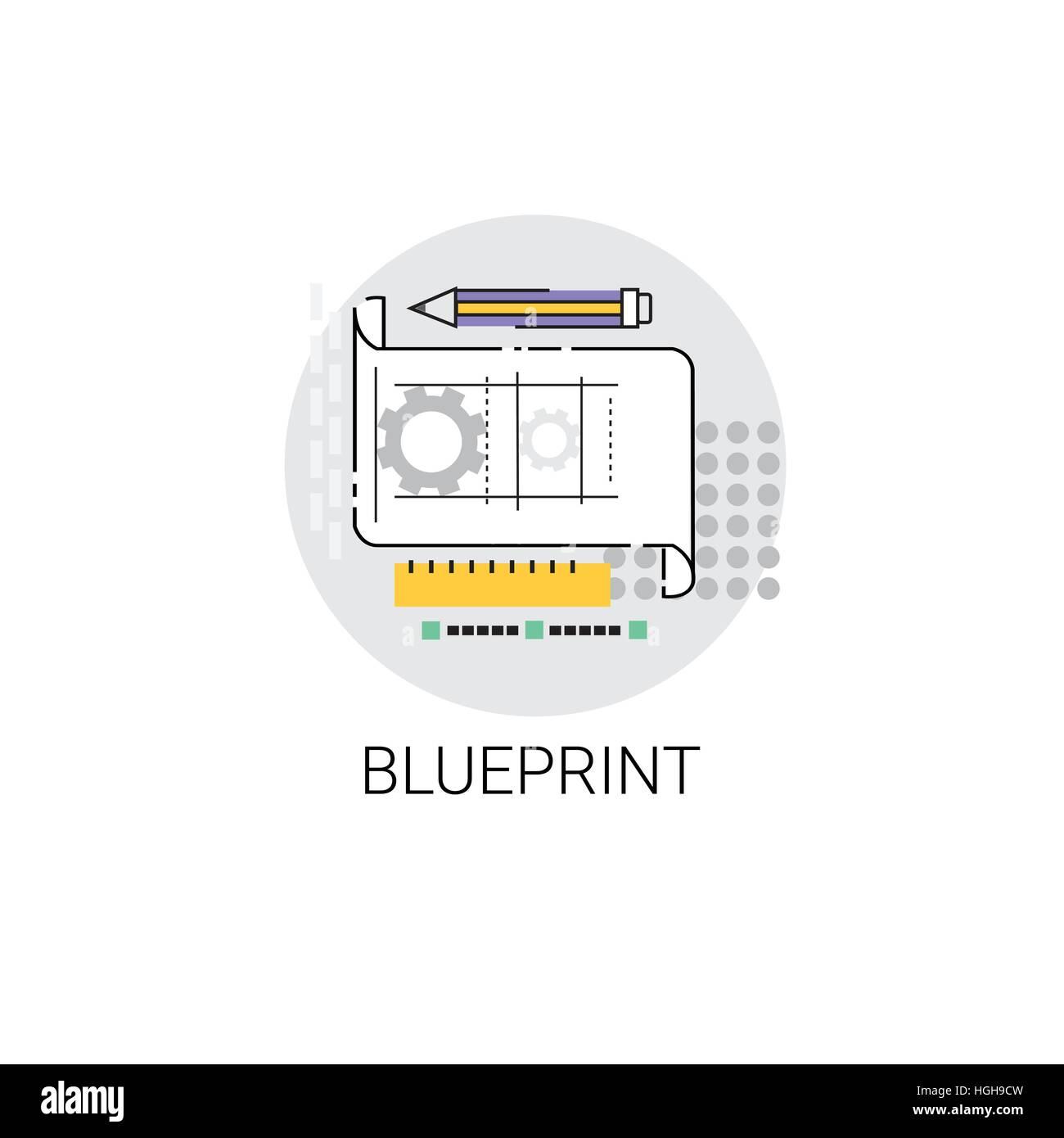 Blueprint architecture design development icon stock vector art blueprint architecture design development icon malvernweather Images